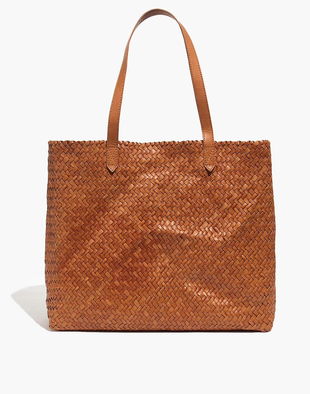 The Transport Tote: Woven Leather Edition