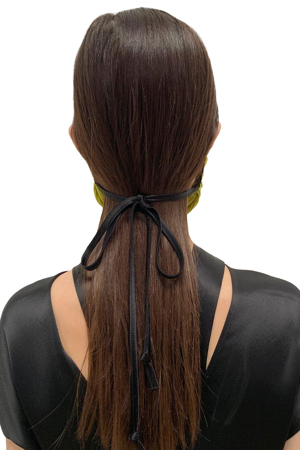 Chartreuse Pleated Face Masks 3
