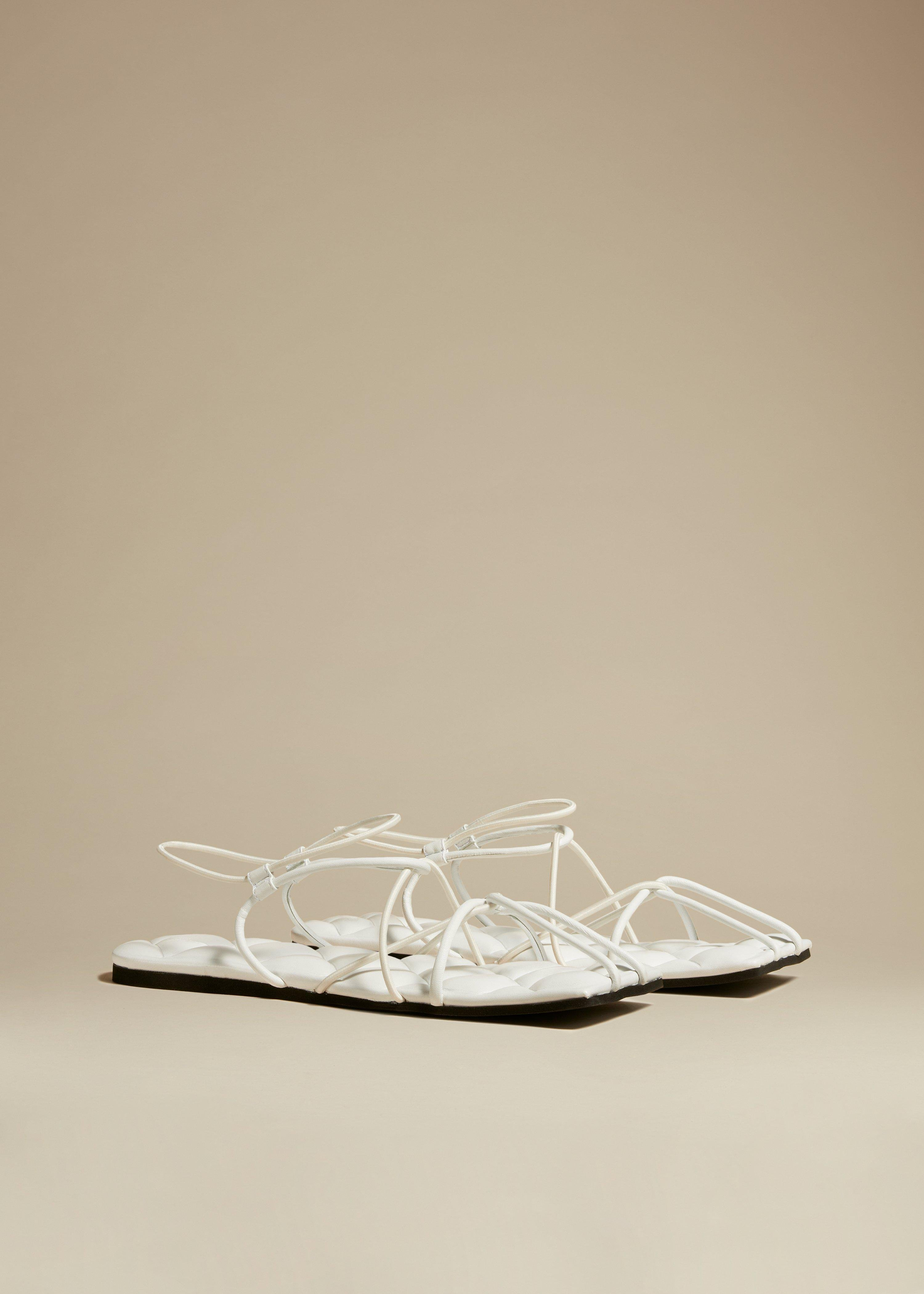 The Patras Sandal in White Leather 1