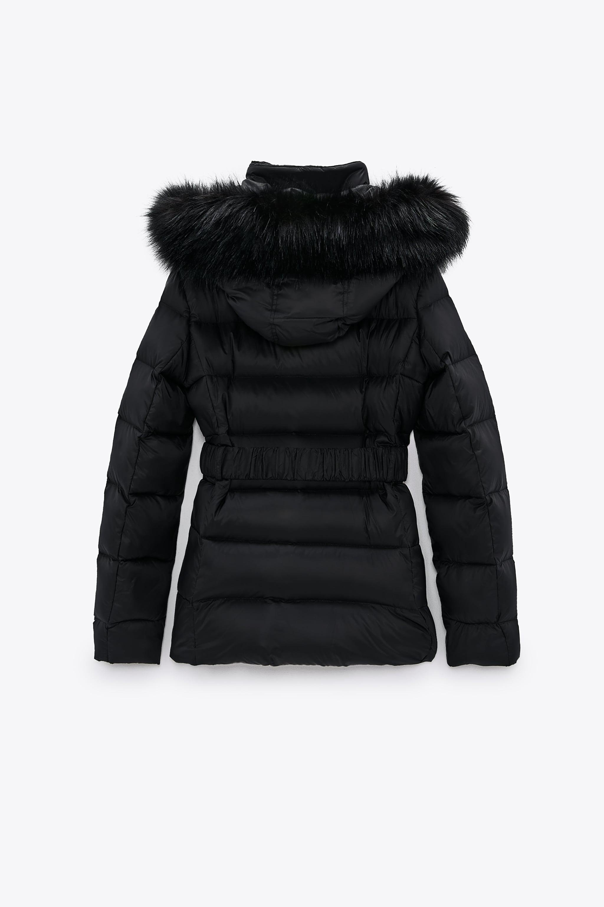 DOWN JACKET WITH FAUX FUR HOOD 5