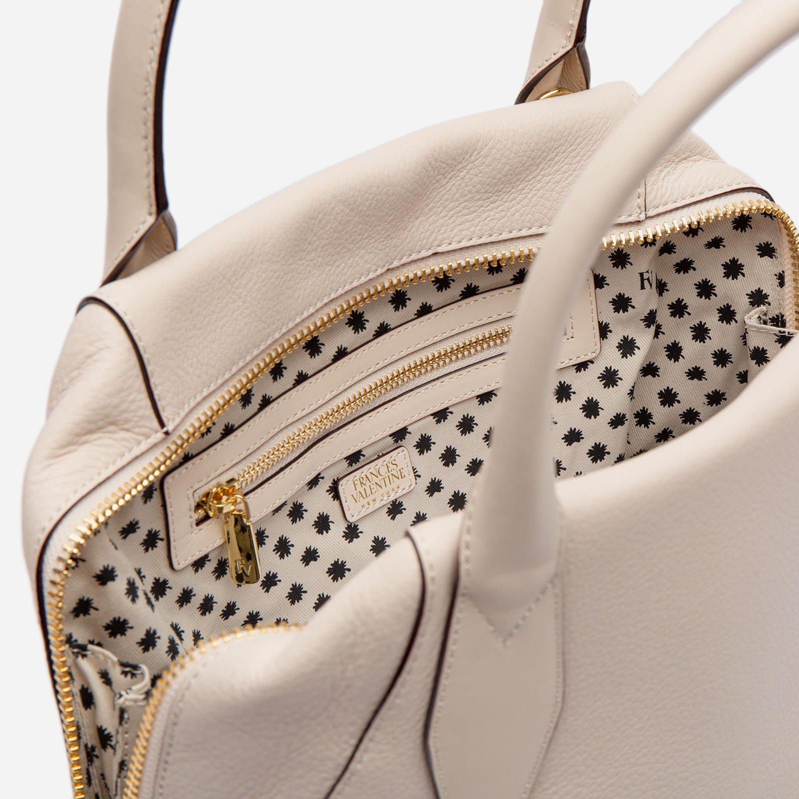 Abby Tote Tumbled Leather Oyster 5