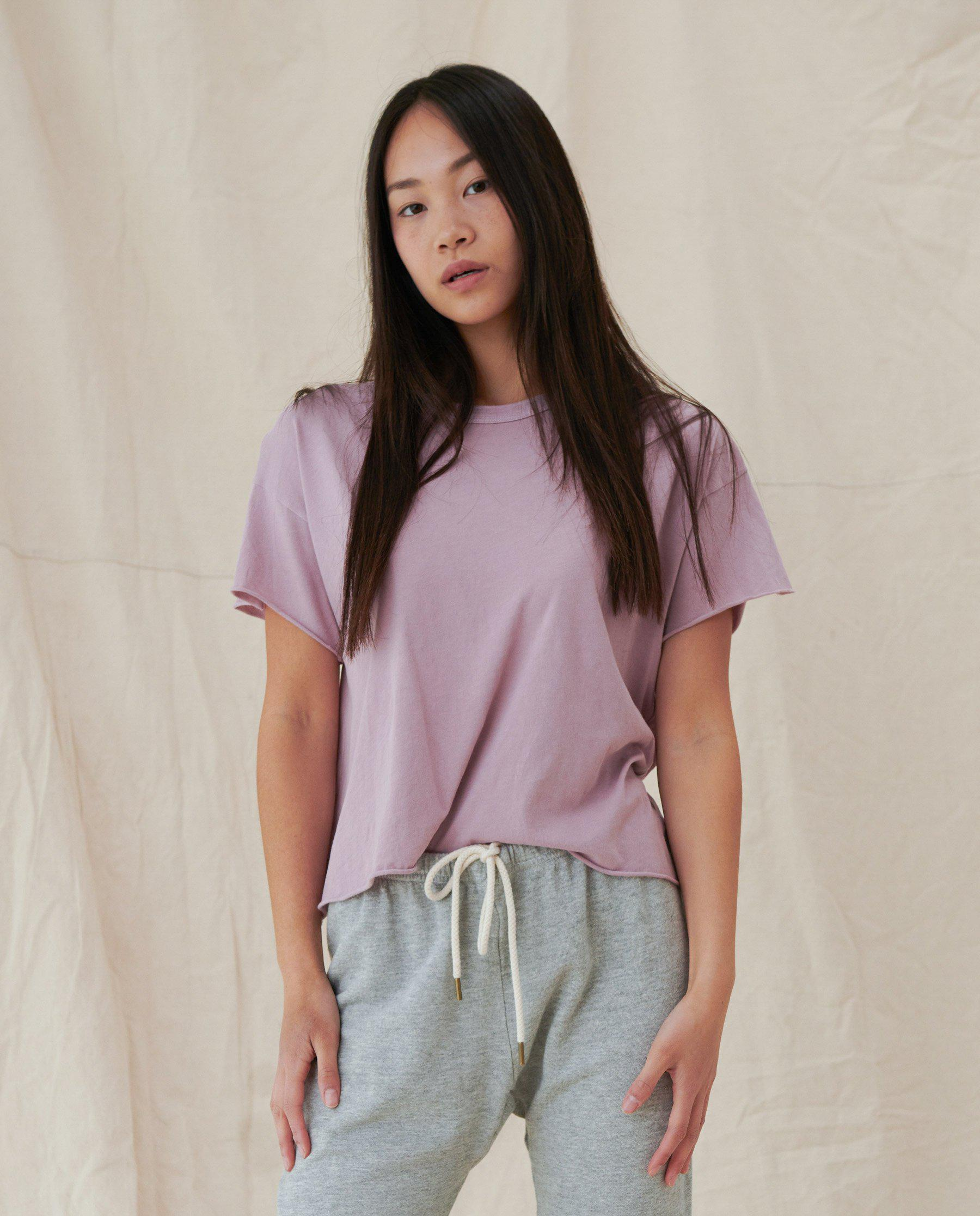 The Crop Tee. Solid -- ORCHID