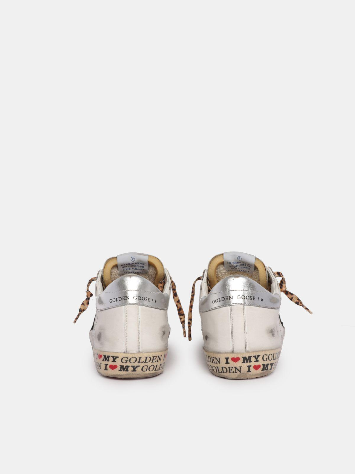 LTD Super-Star sneakers with decorations on the foxing and leopard-print laces 1