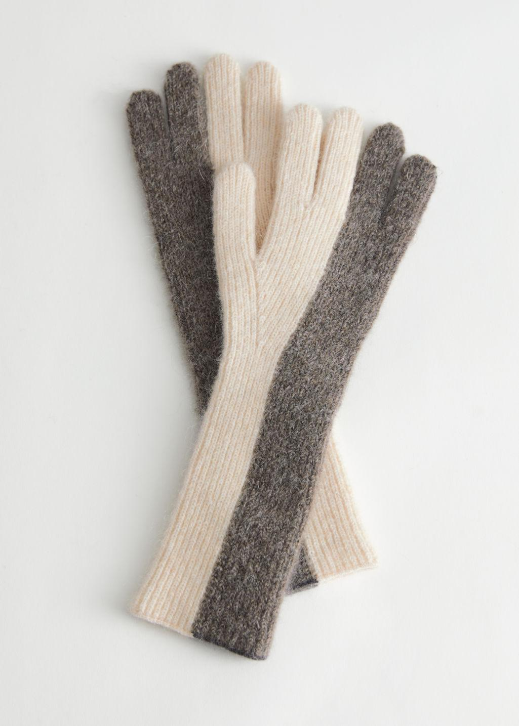 Knitted Duo Tone Gloves