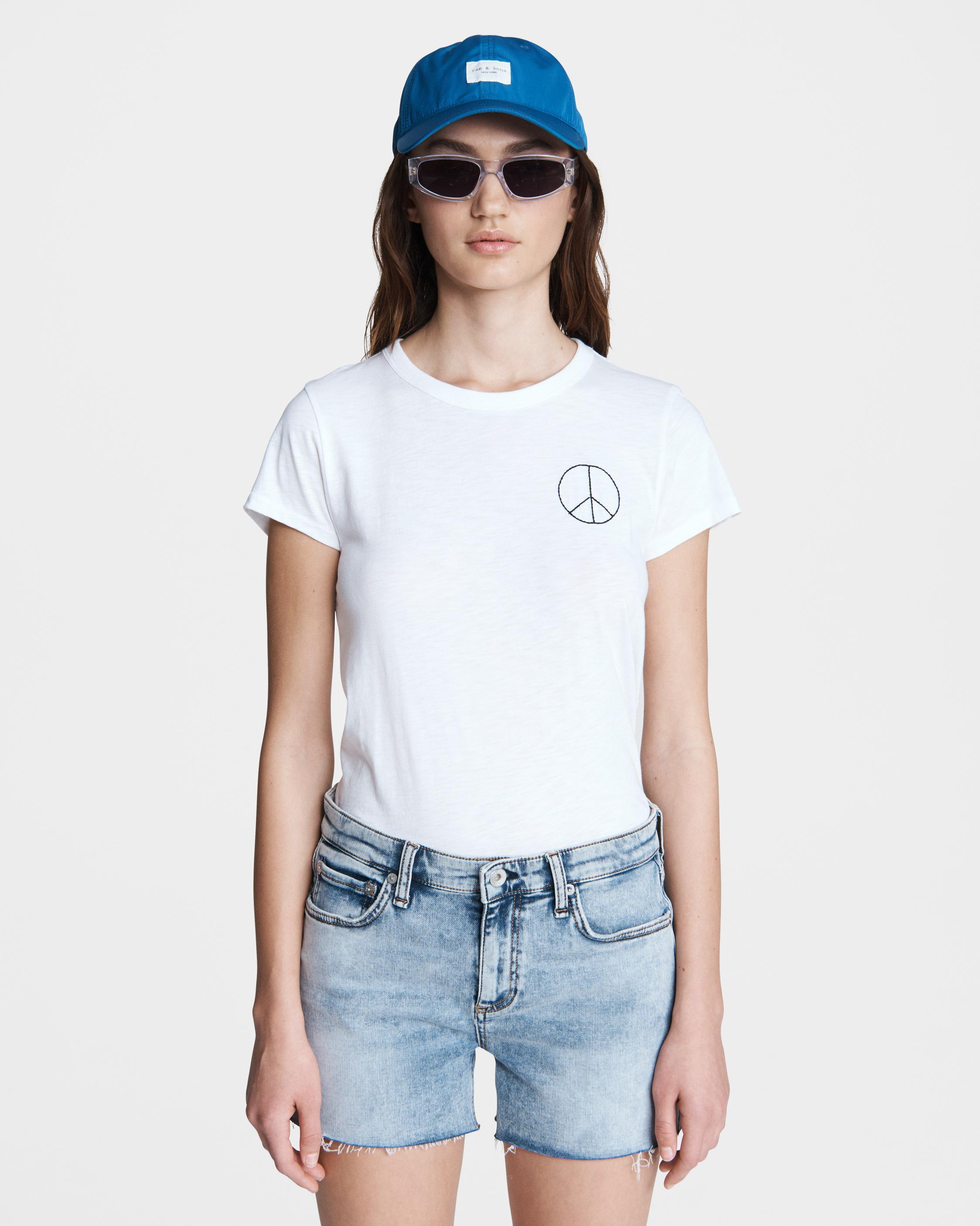 Peace sign cotton tee