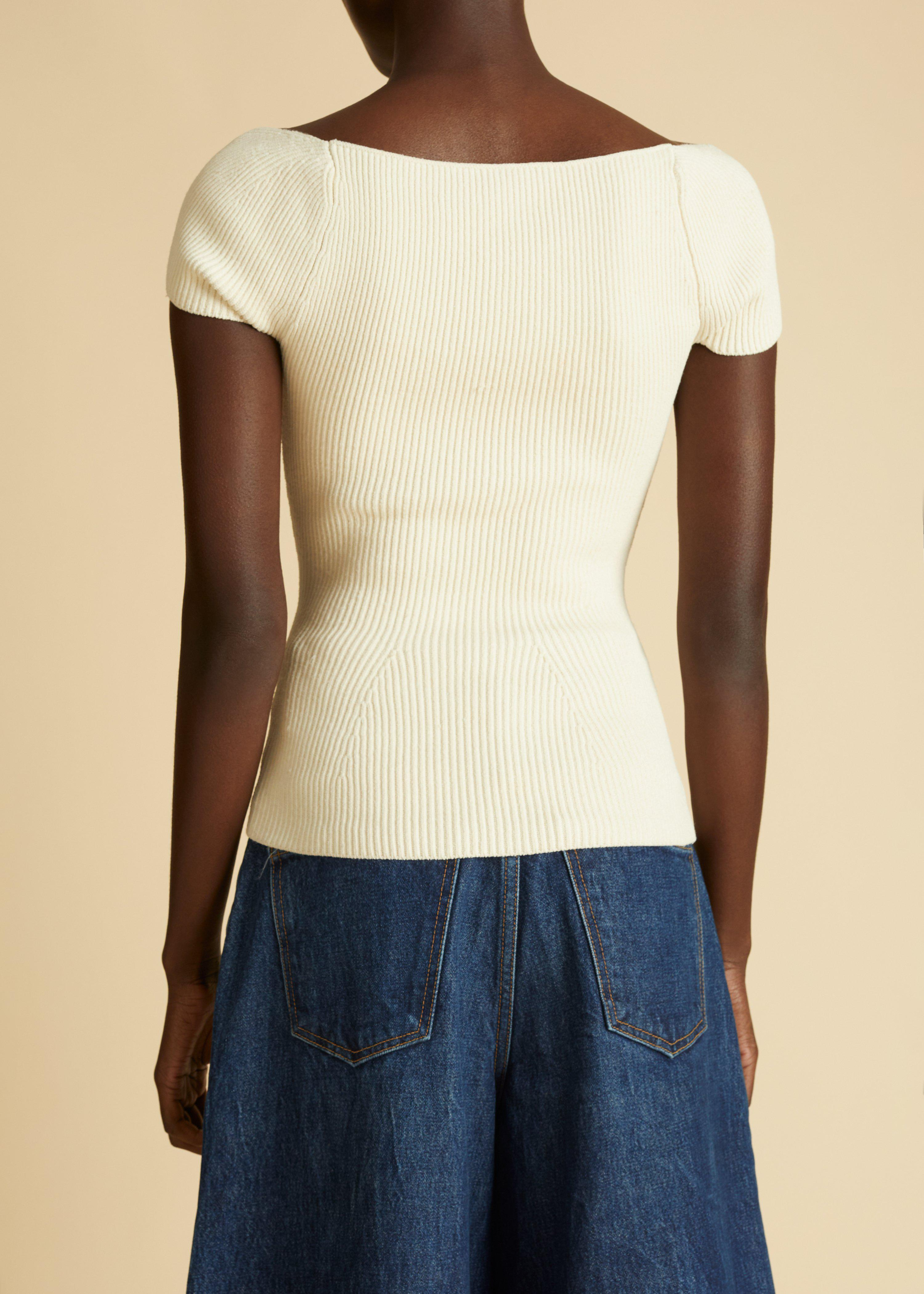 The Ista Top in Ivory 2