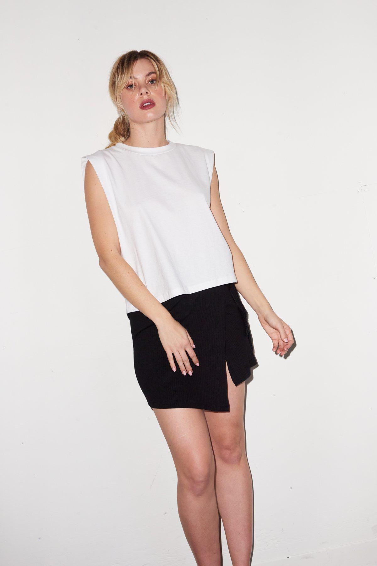 Strong Shoulder Tee - White 1