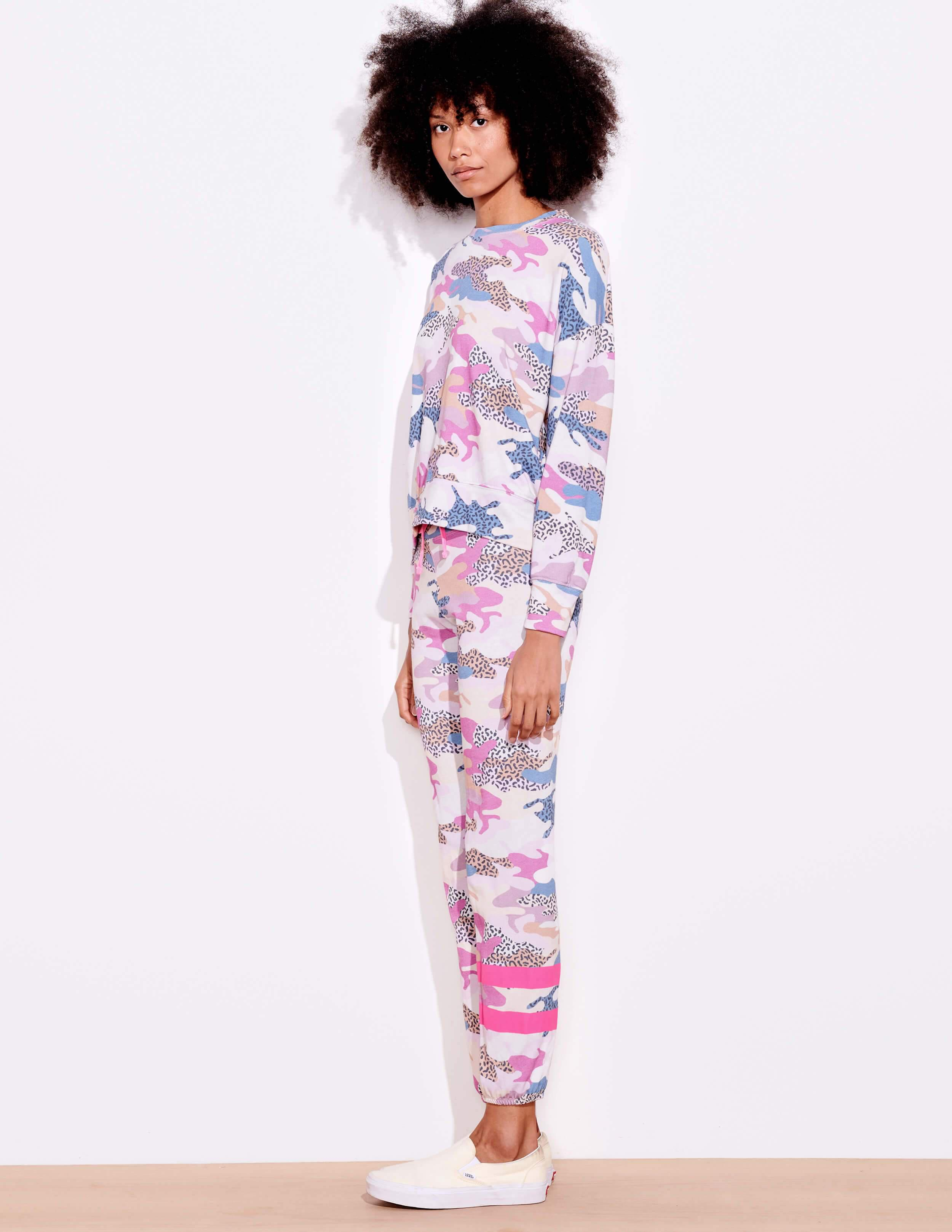 Abstract Camo Oversize Pullover 2