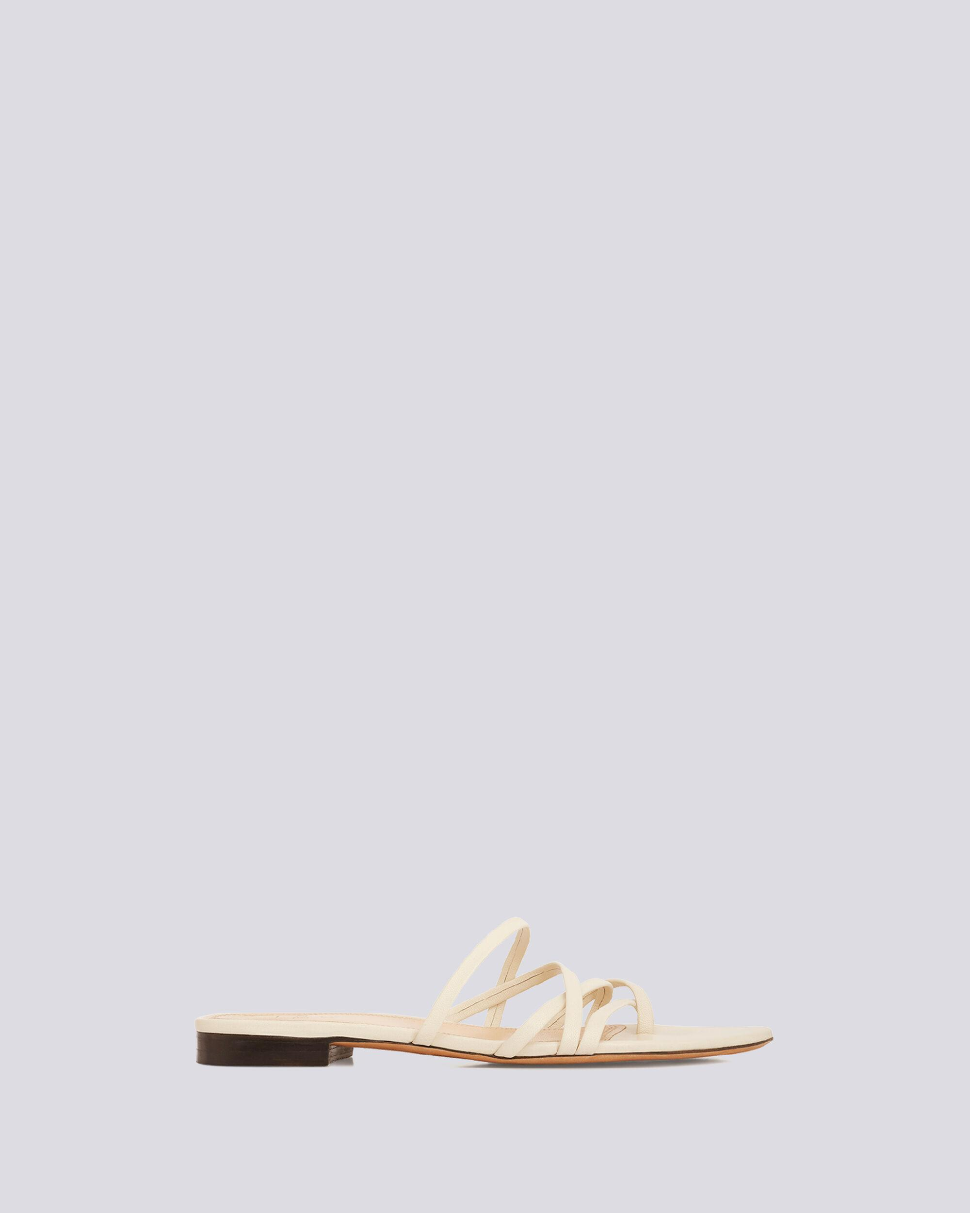 LEV STRAPPY FLAT LEATHER SANDALS