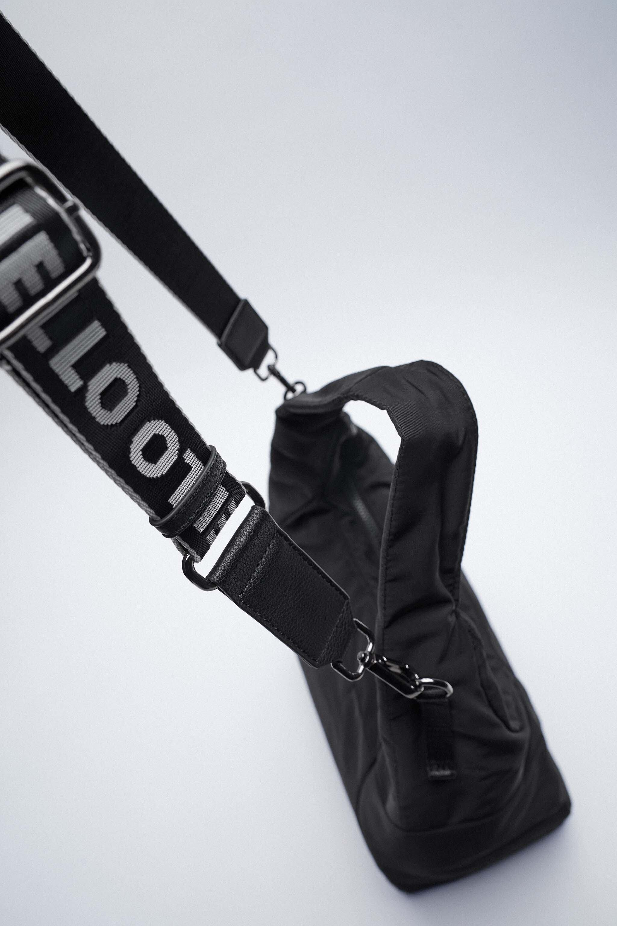 NYLON TOTE BAG WITH TEXT DETAIL 5