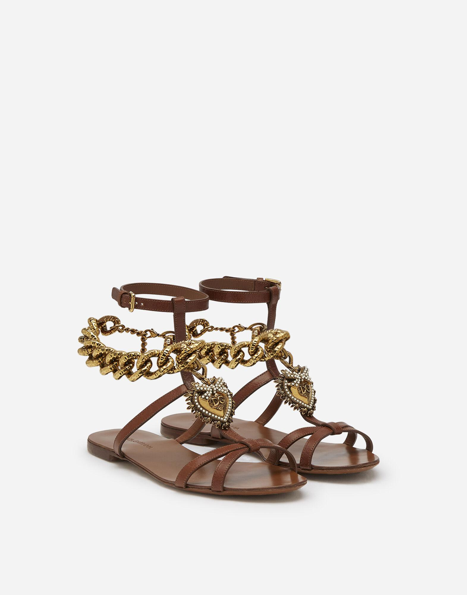 Devotion sandals in polished cowhide 1