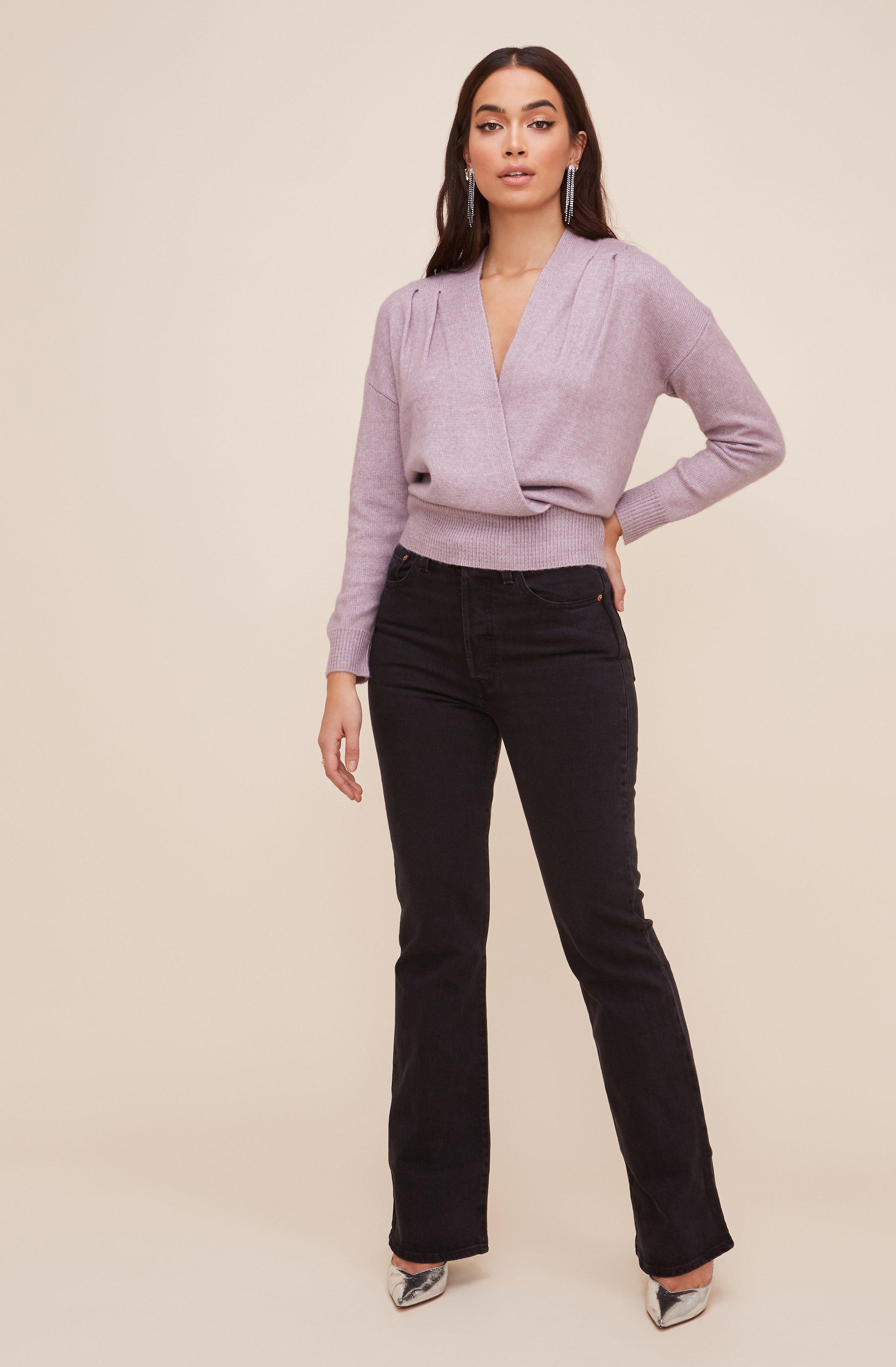 Pleated Wrap Sweater 3