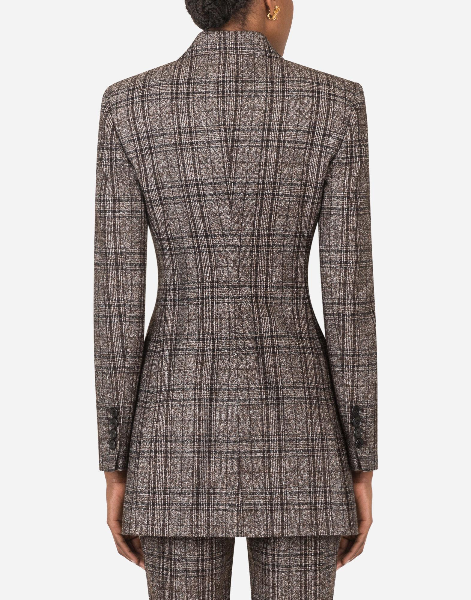 Double-breasted jacket in checked tartan 1