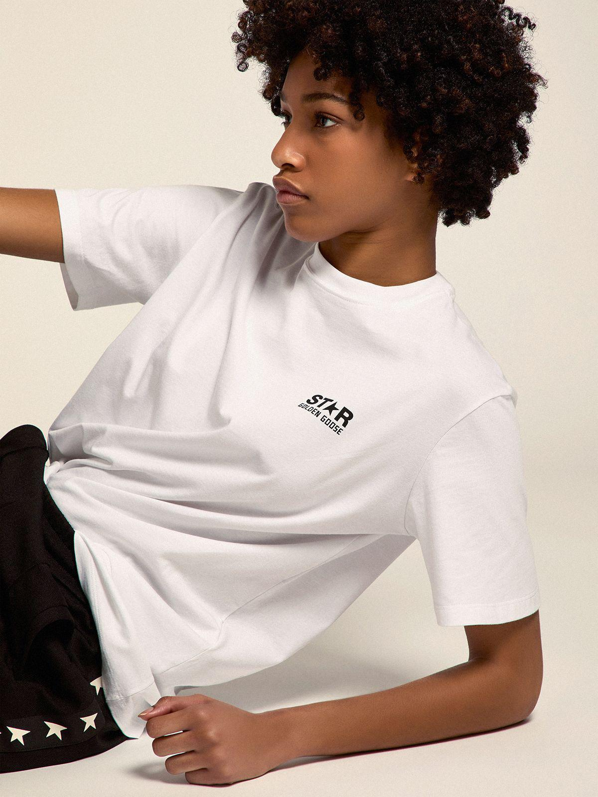 White Star Collection T-shirt with contrasting black logo and star 1