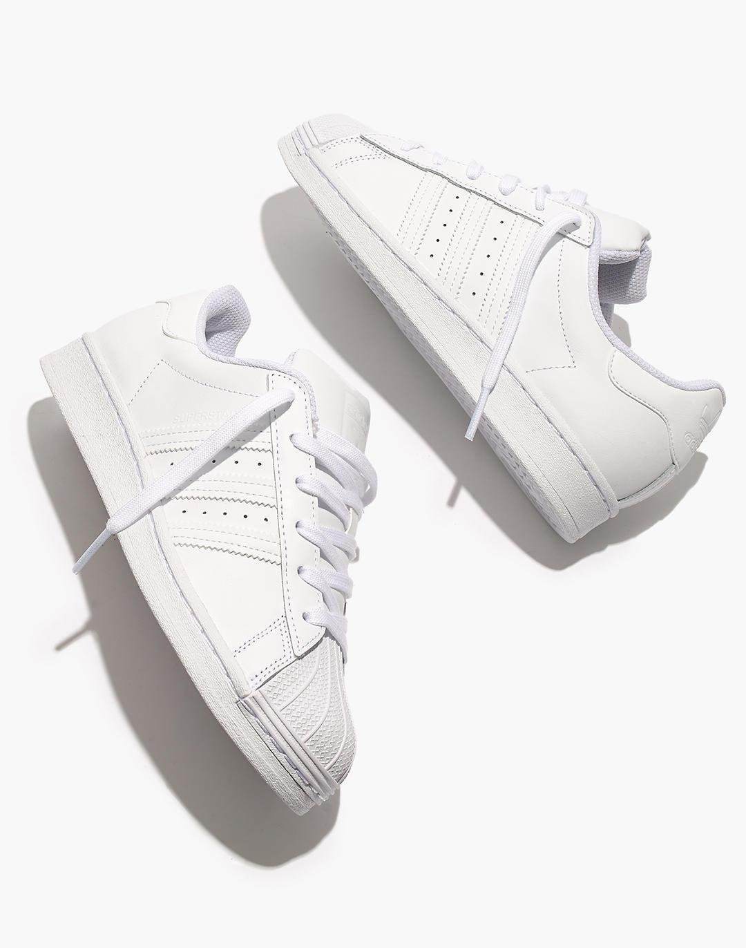 Adidas® Superstar Lace-Up Sneakers in White