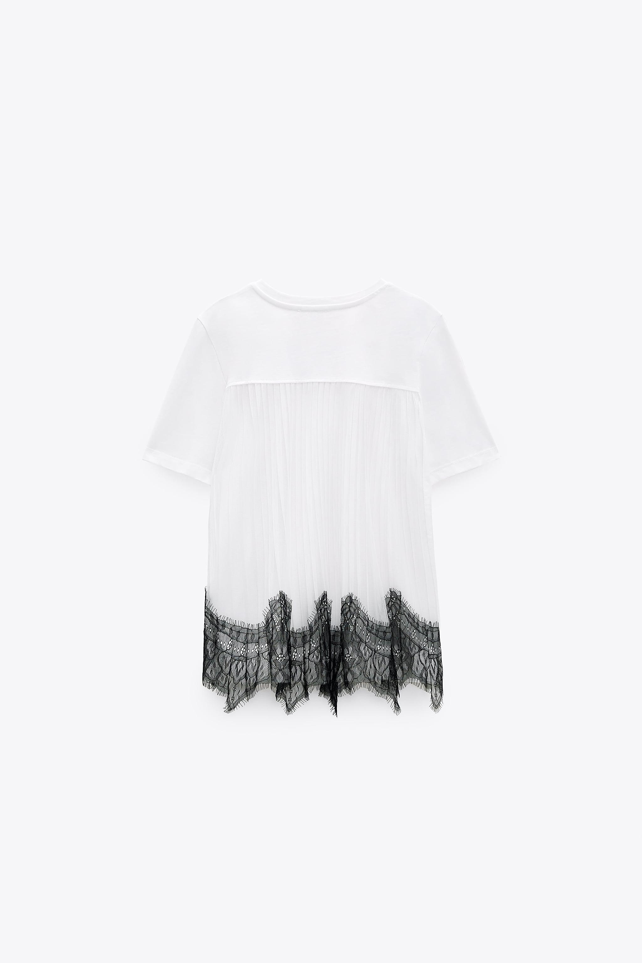 CONTRASTING LACE T-SHIRT 4