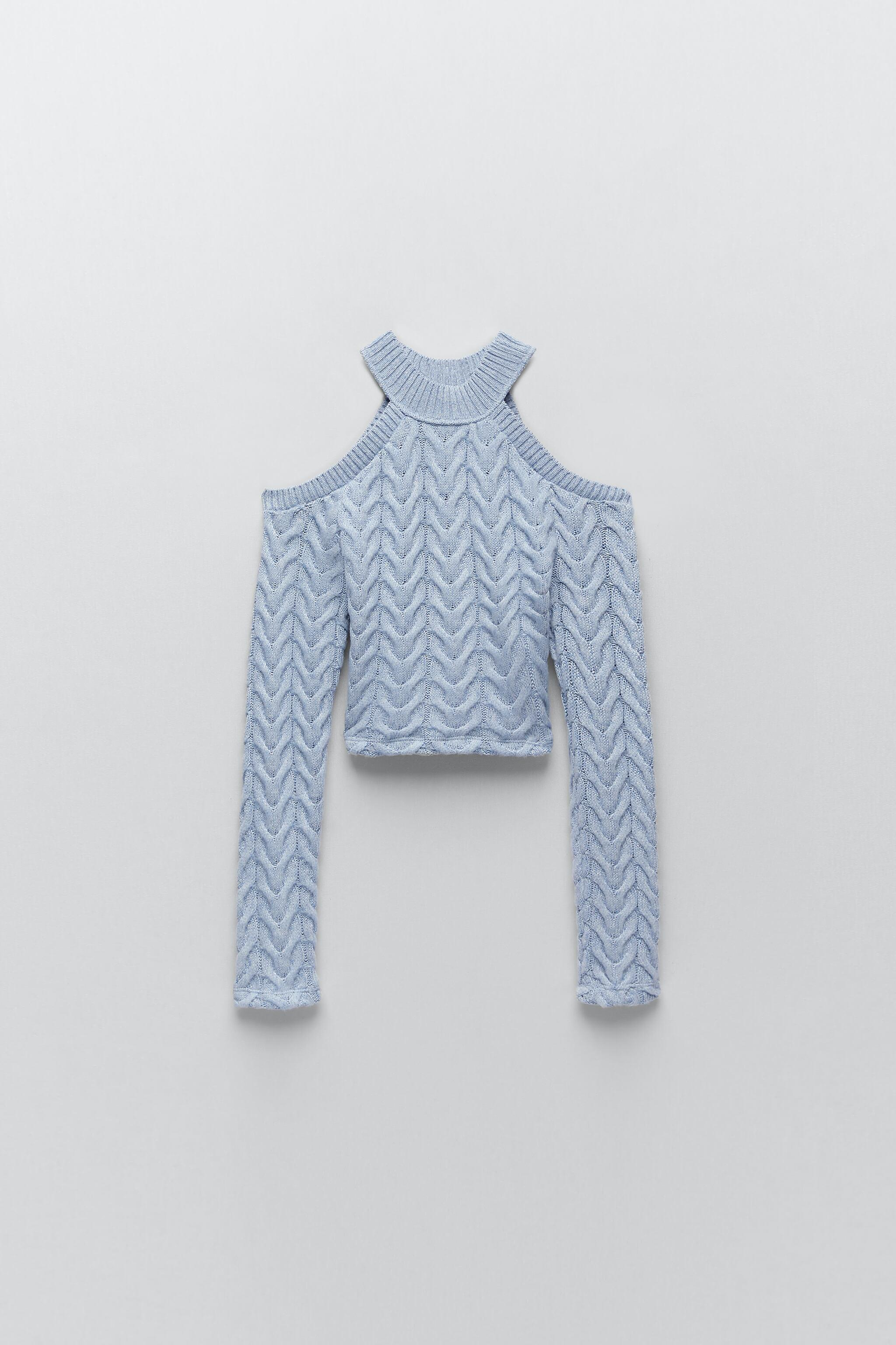 CUT OUT CABLE-KNIT TOP 2