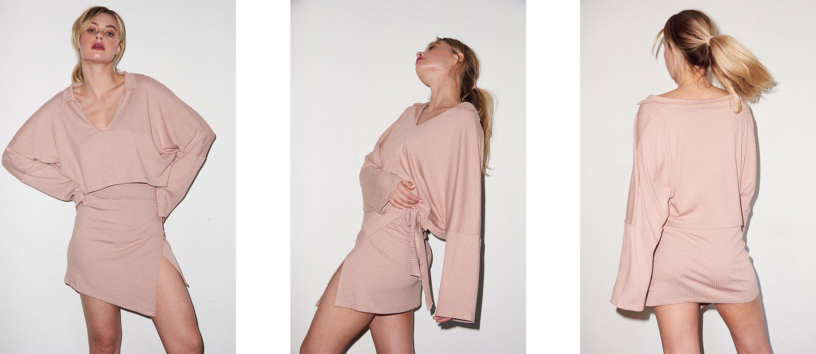 Cropped Cape Top - Nude 6