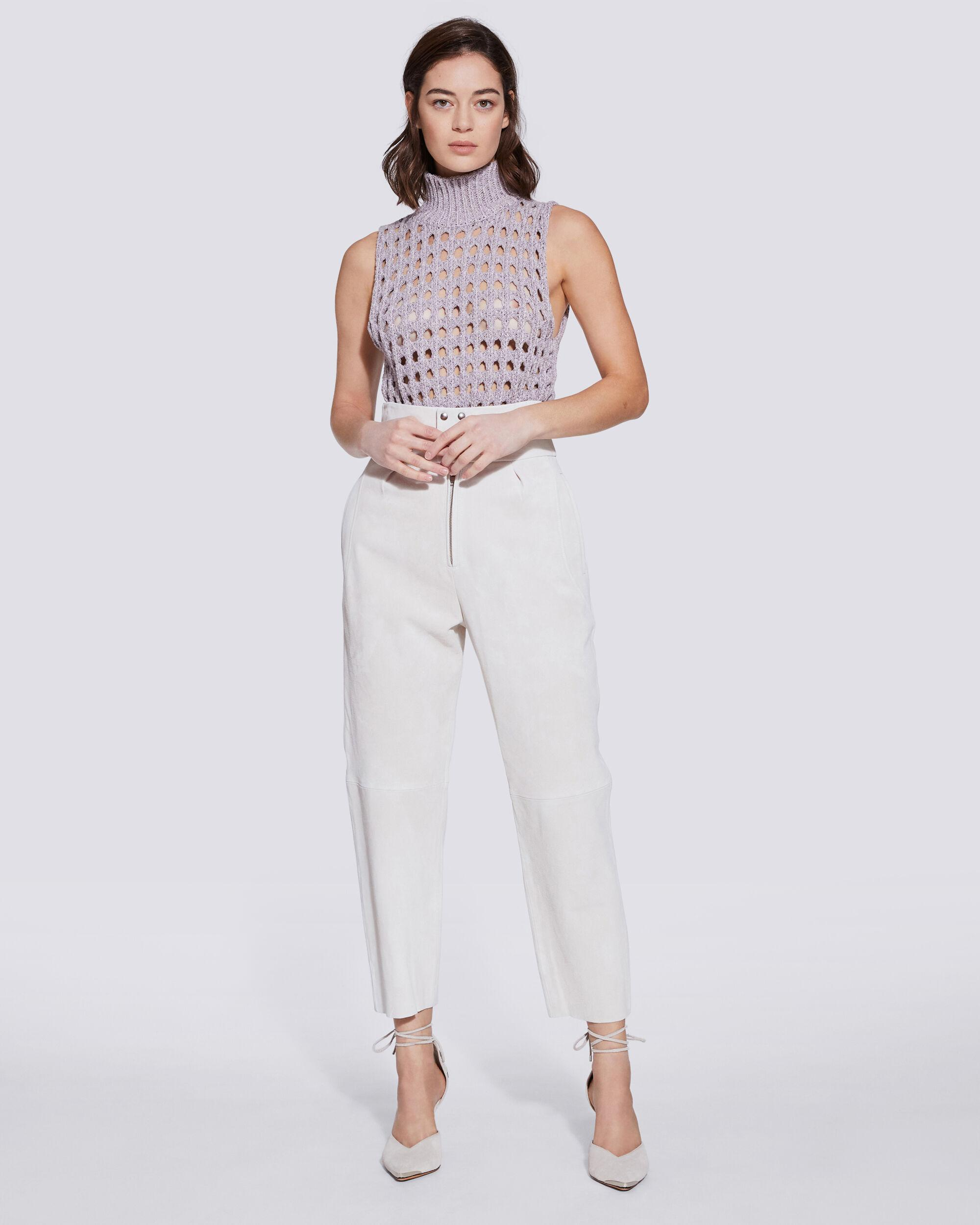 SCAPOLI HIGH WAIST SUEDE TROUSERS