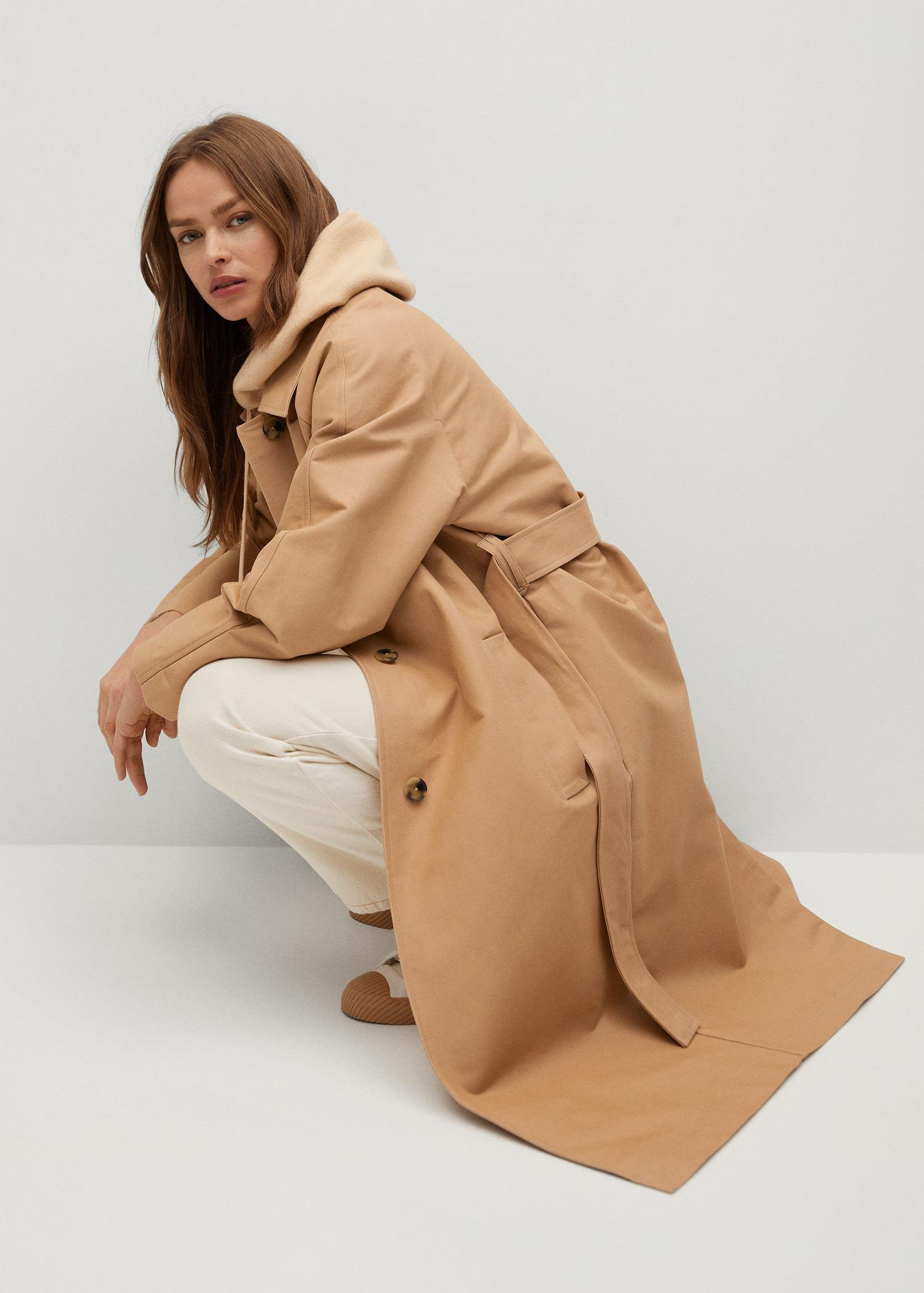 Water-repellent cotton trench 4