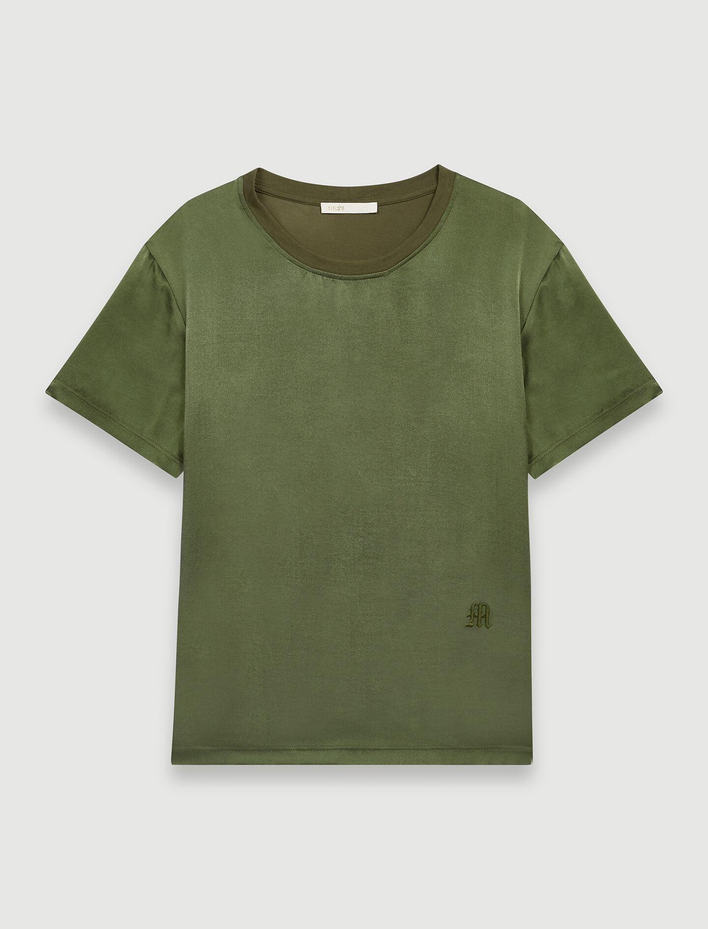LOOSE-FITTING MATERIAL-MIX T-SHIRT 5