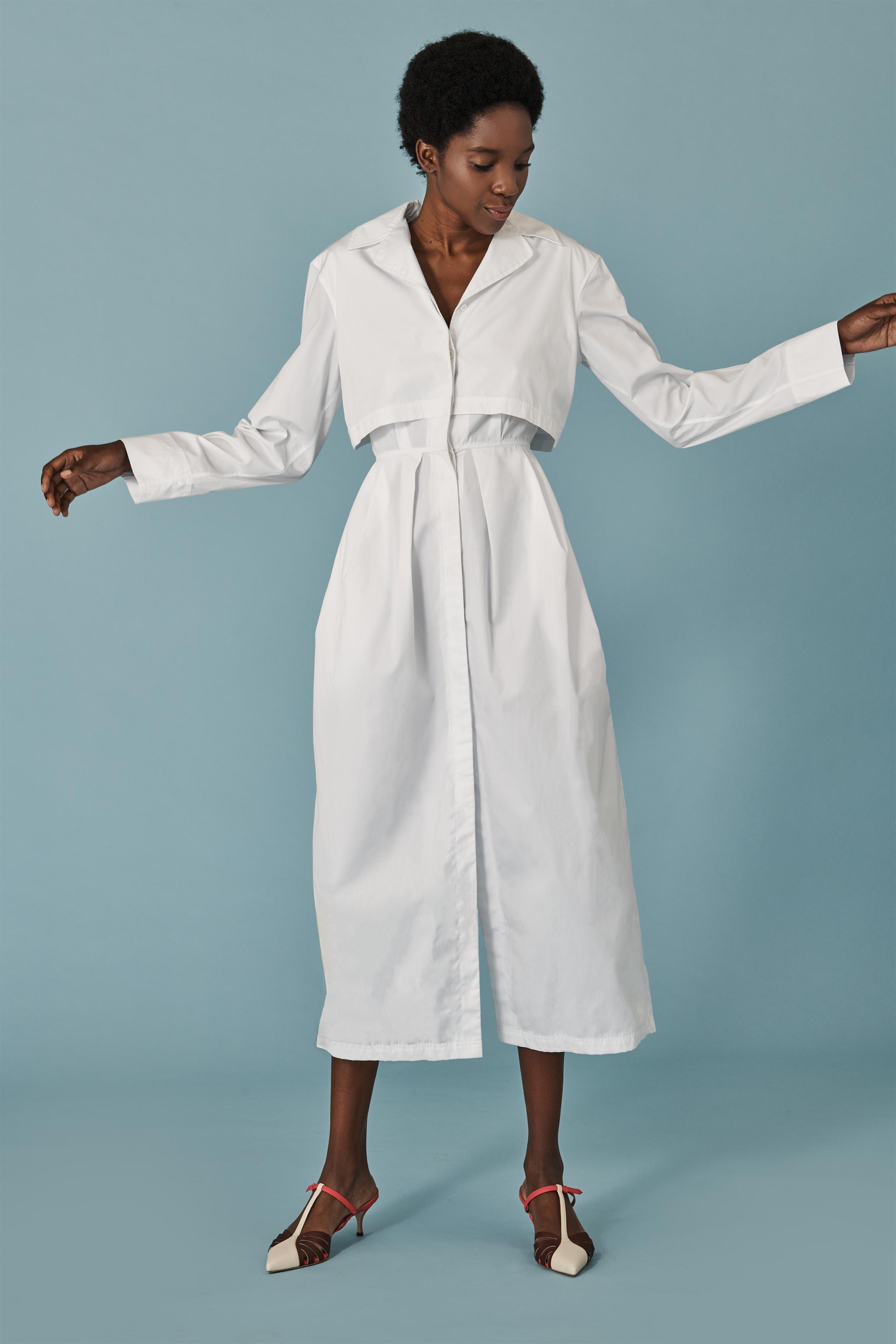 Layered Trench Day Dress