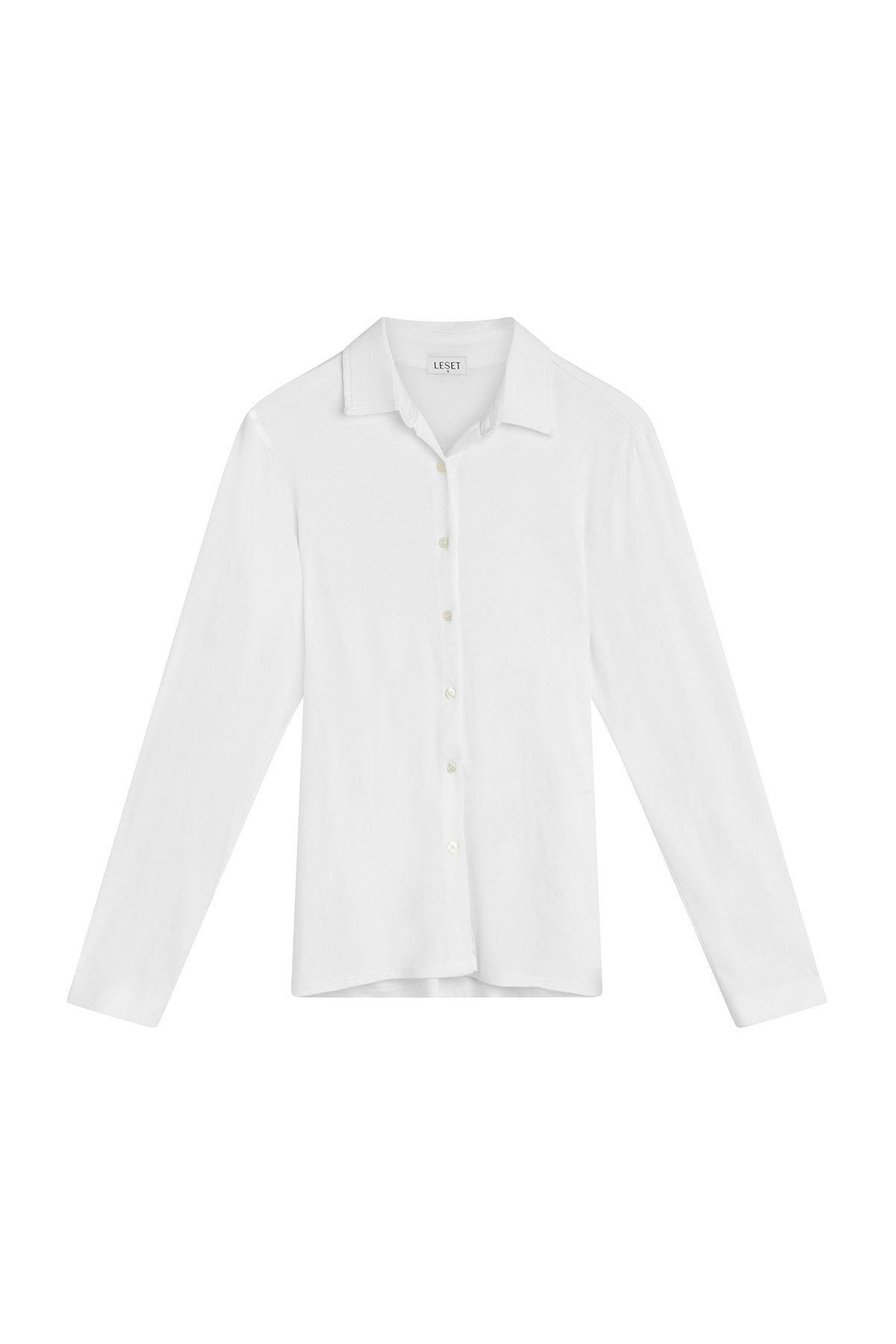 Dylan Fitted Button Down - White 4