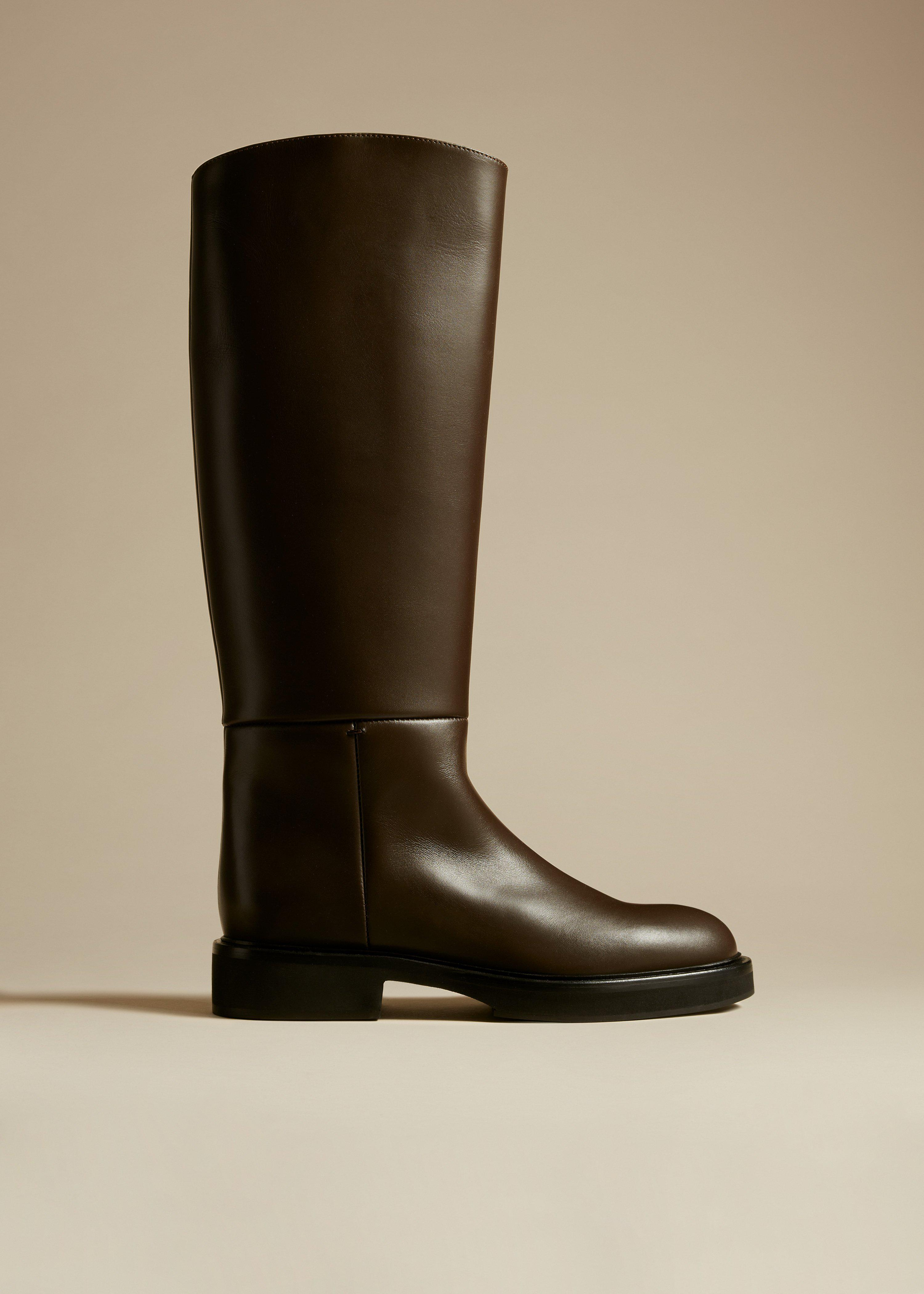 The Derby Boot in Dark Brown Leather