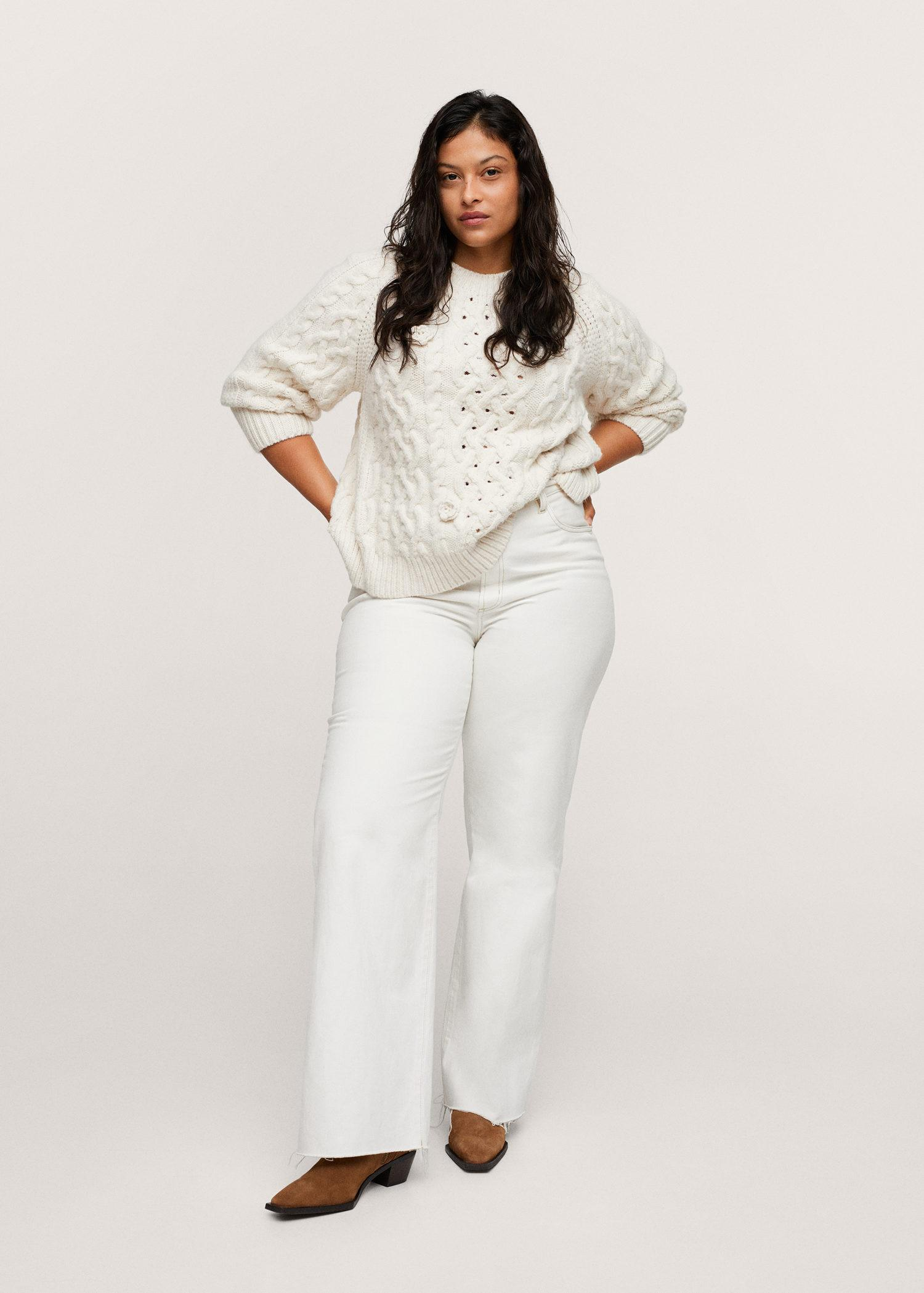 Braided detail knit sweater