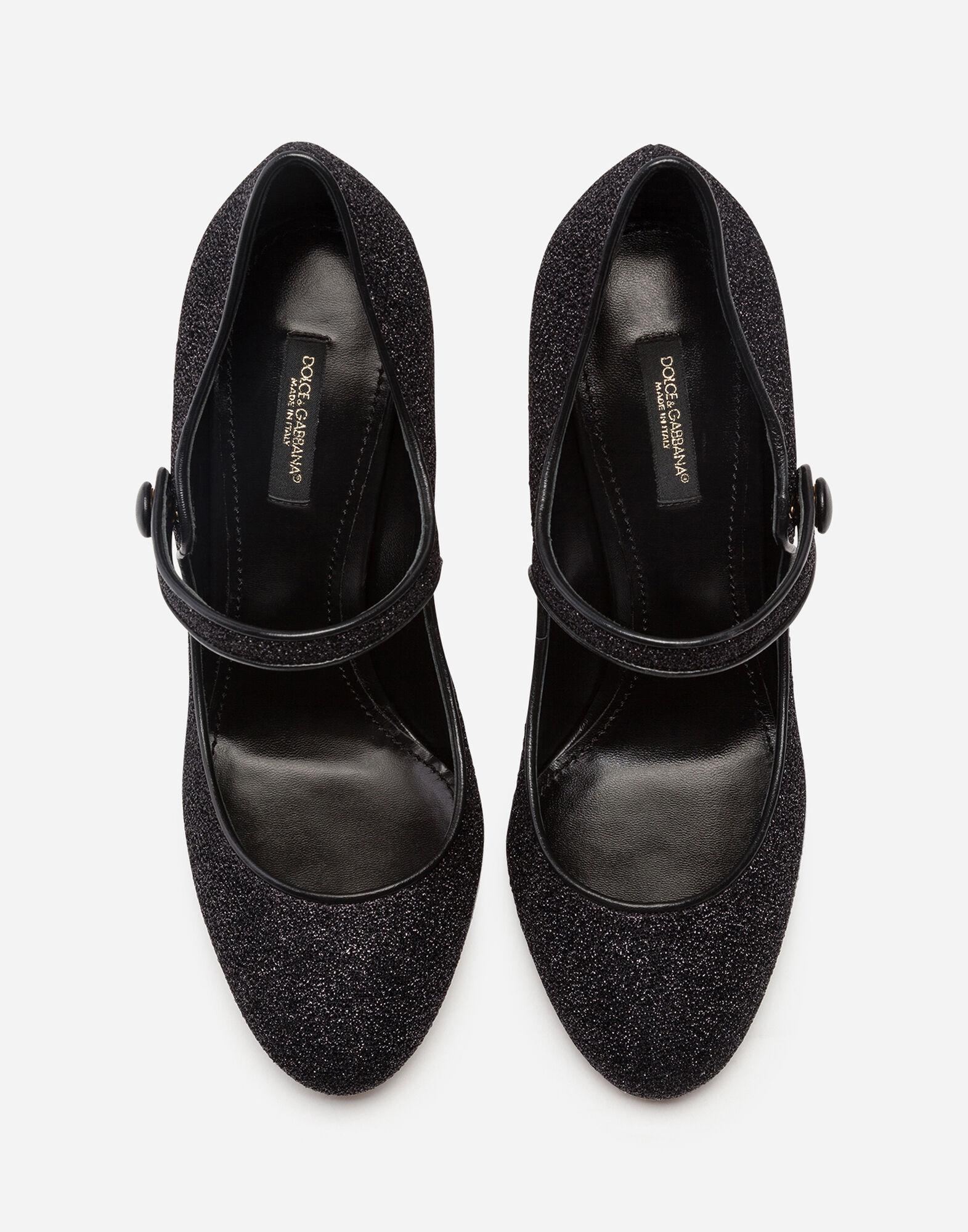 Mary Janes in lurex with sculpted heel 3