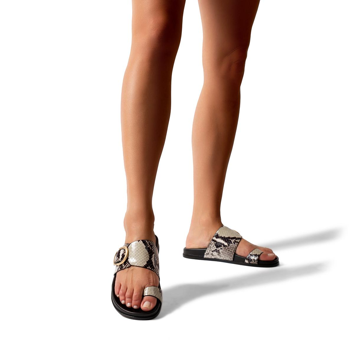 Cyrus | Leather Slide Sandal with Contoured Footbed 4