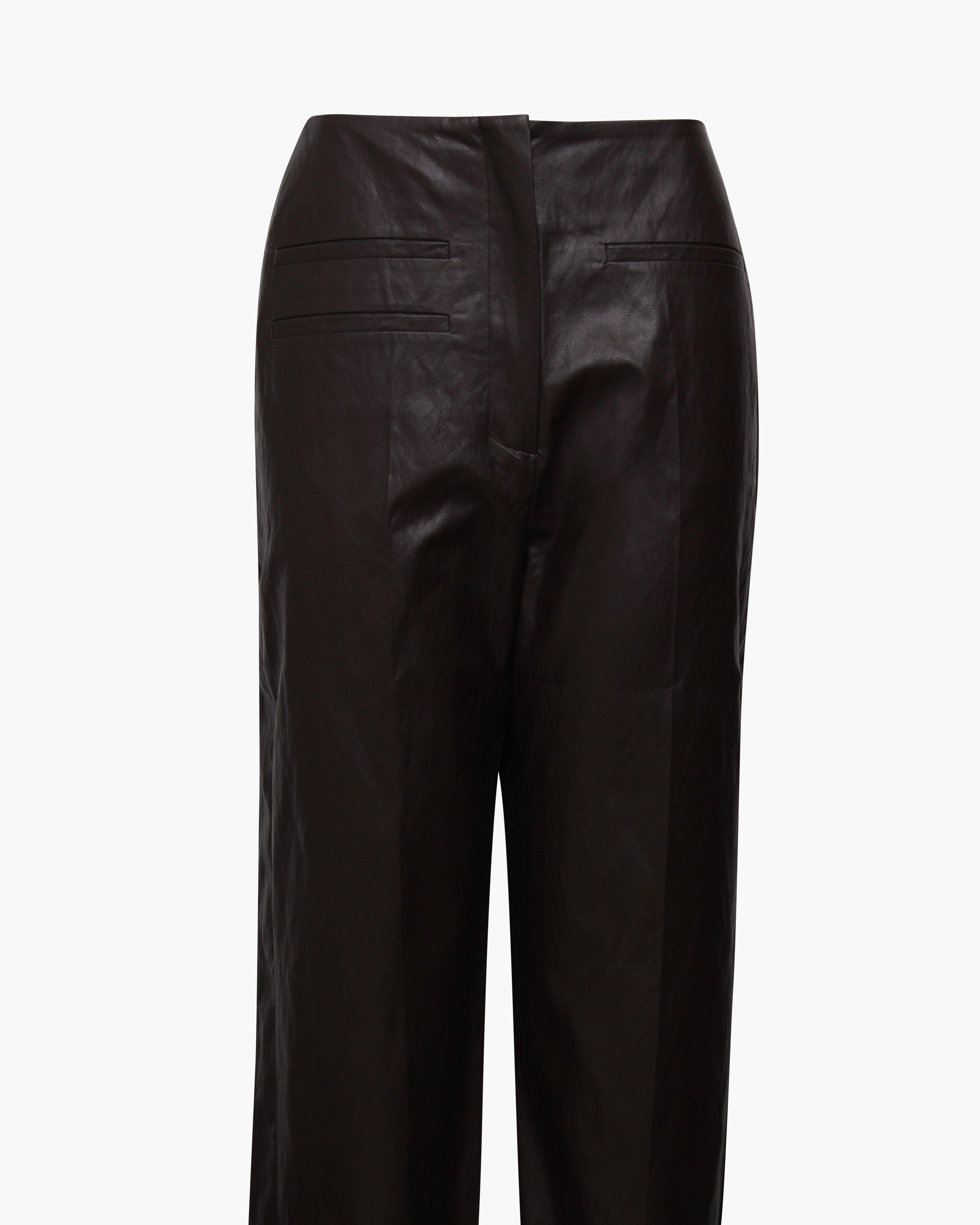 Lexi Trousers Faux Leather Brown 3