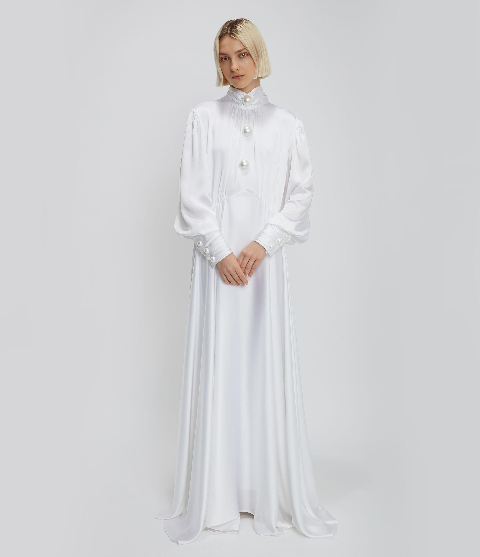 Christopher Kane Bridal: Pearl Dome Satin Gown