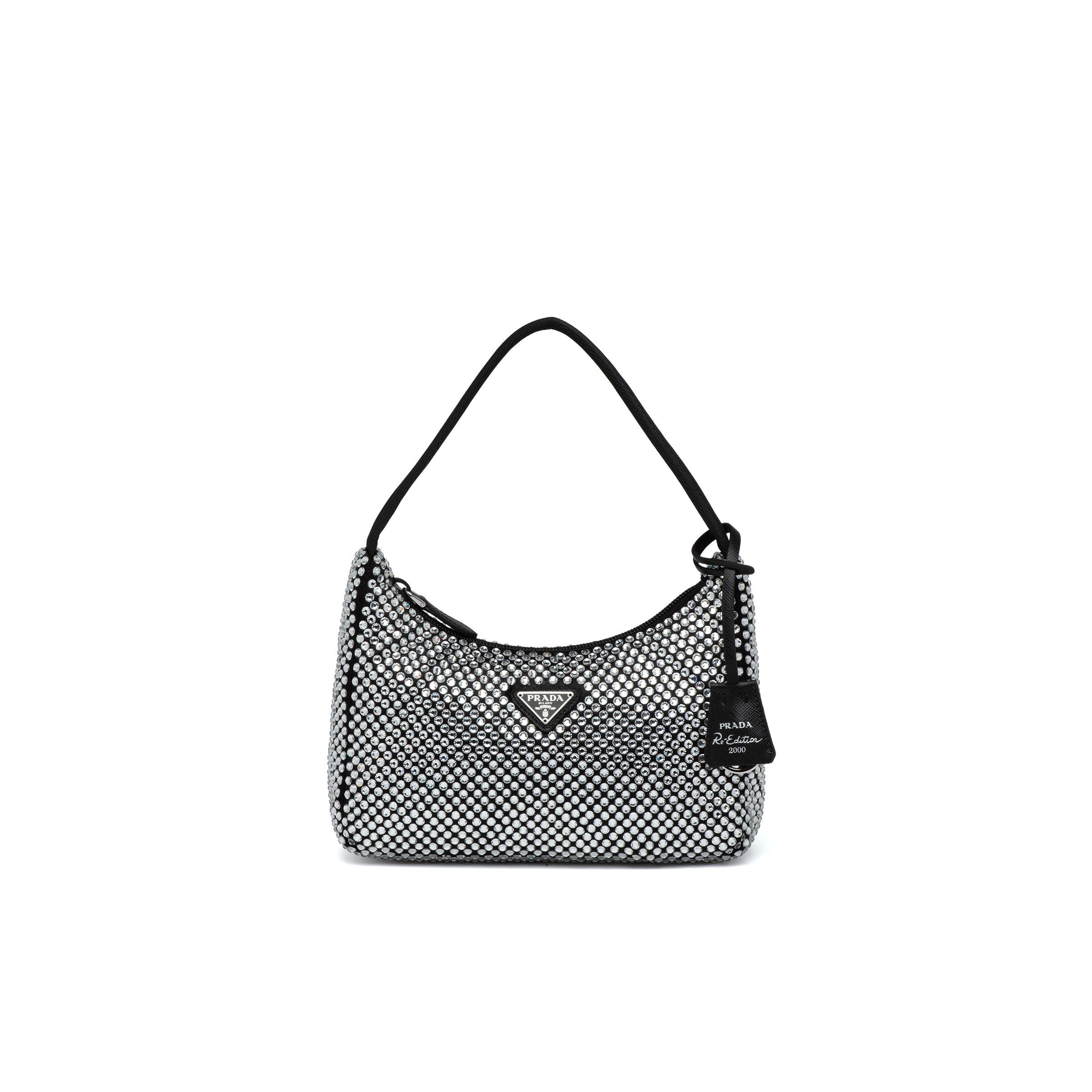 Satin Mini-bag With Artificial Crystals Women Crystal