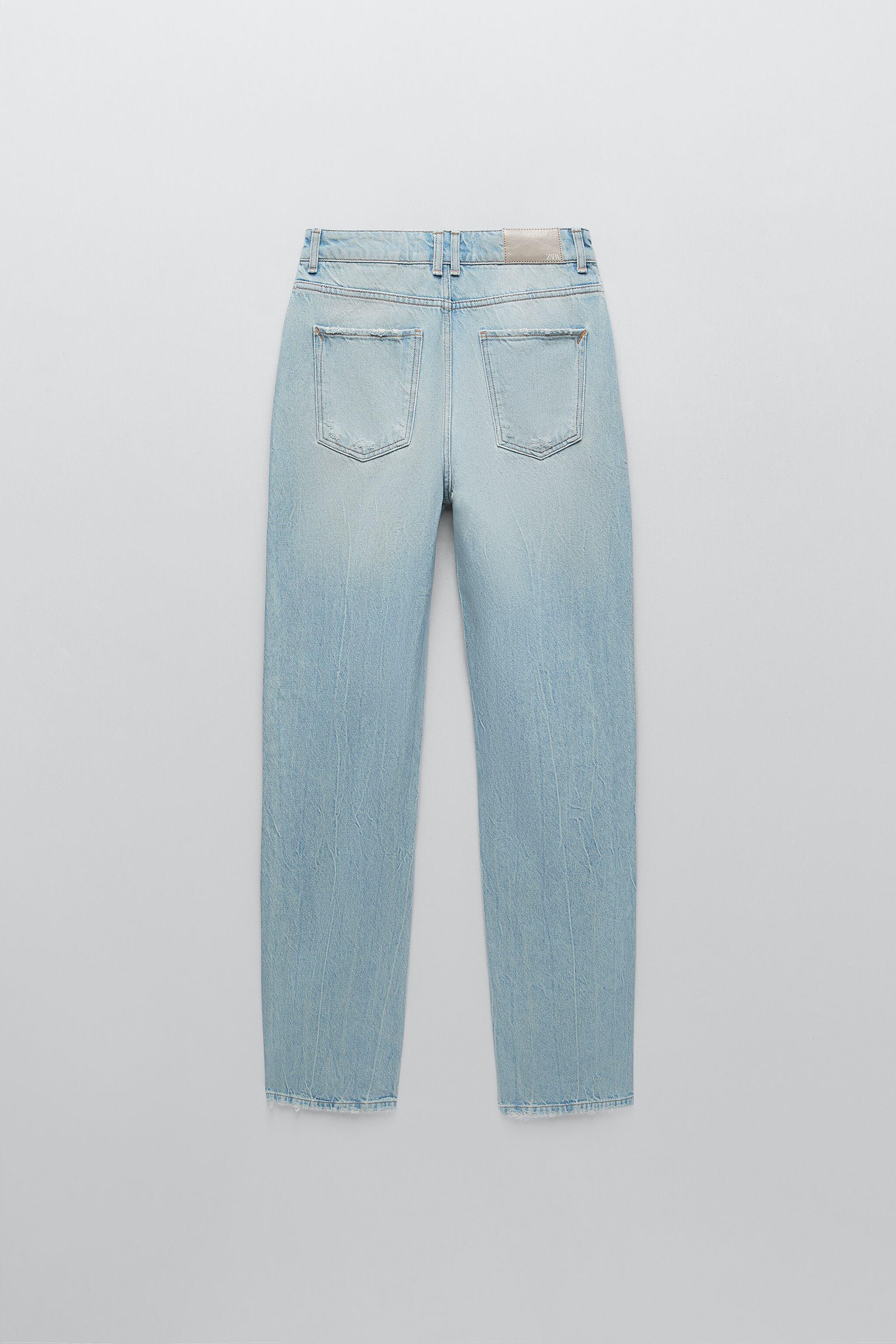 Z1975 HI-RISE STRAIGHT LEG JEANS WITH RIPS 2