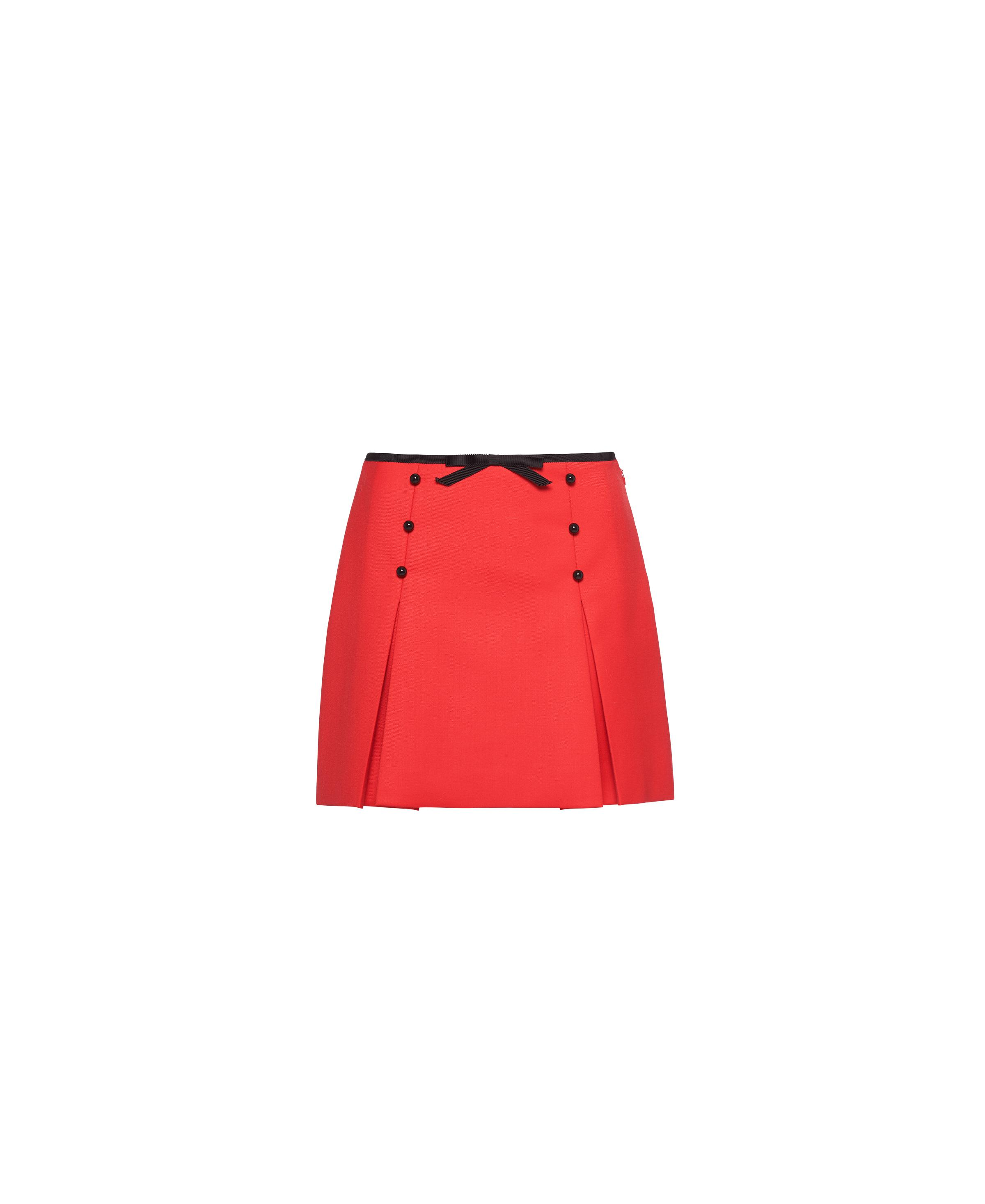 Once Upon A Time Wool Canvas Skirt Women Red
