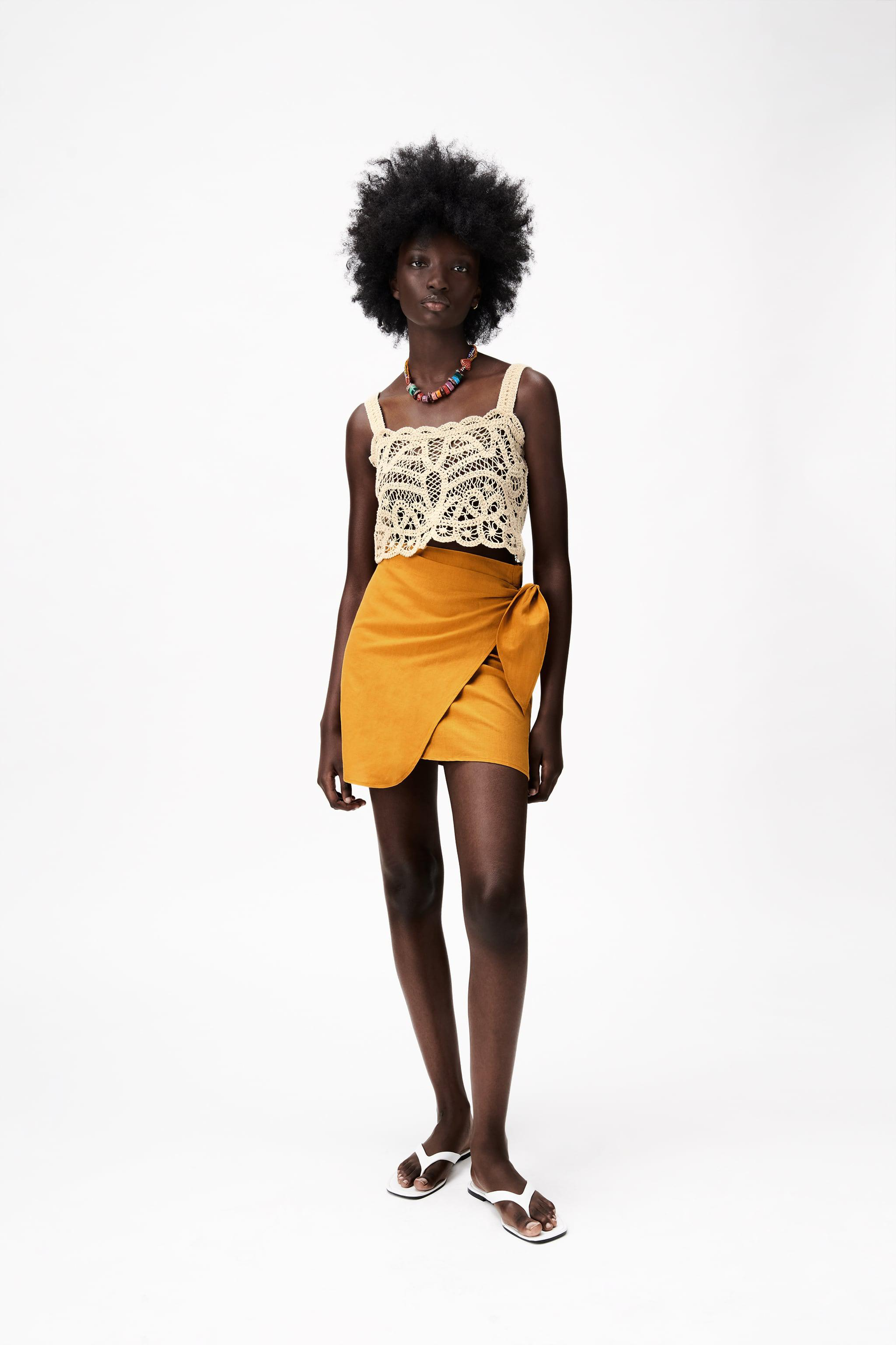 EMBROIDERED GUIPURE LACE CROP TOP LIMITED EDITION
