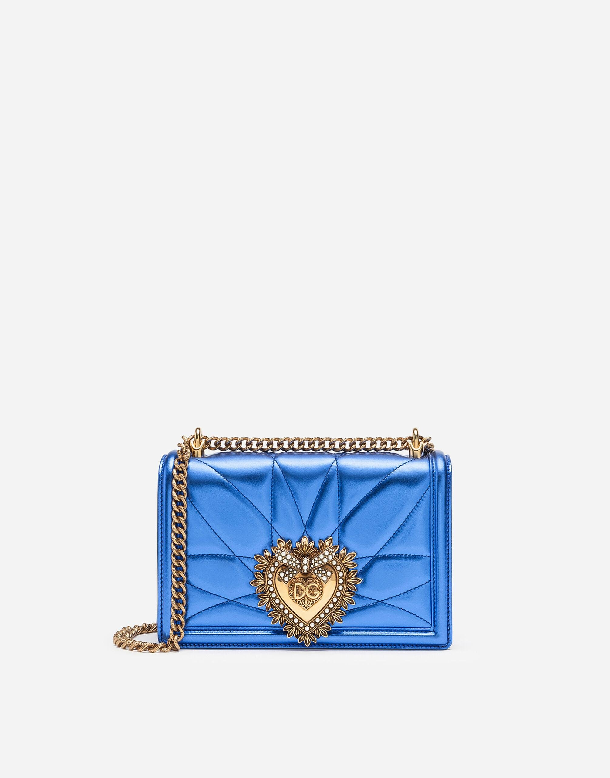 Medium Devotion bag in quilted nappa mordoré