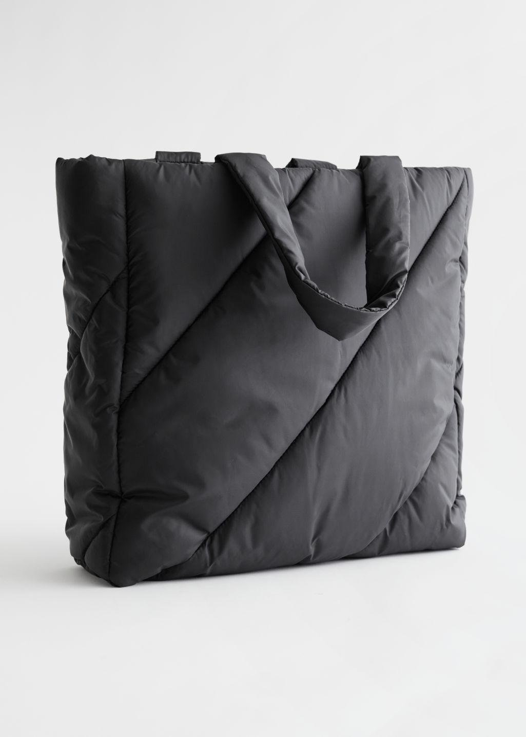 Stripe Quilt Padded Tote Bag