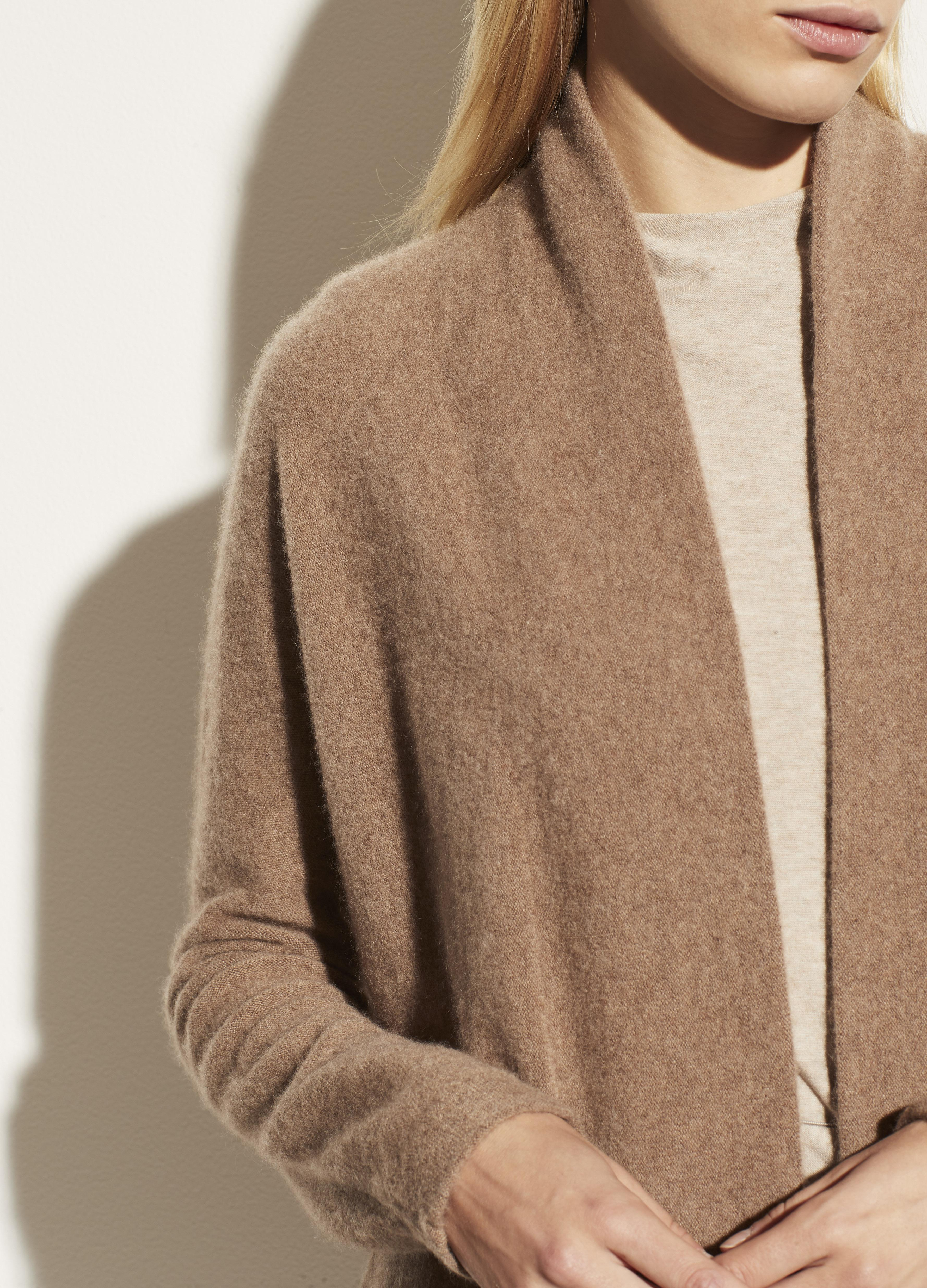 Boiled Cashmere Open Cardigan 3
