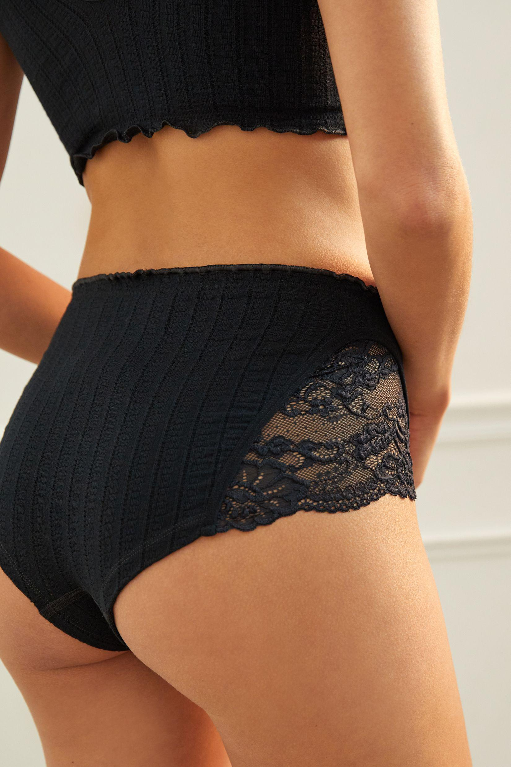 Seamless Lace Hipster Briefs 1
