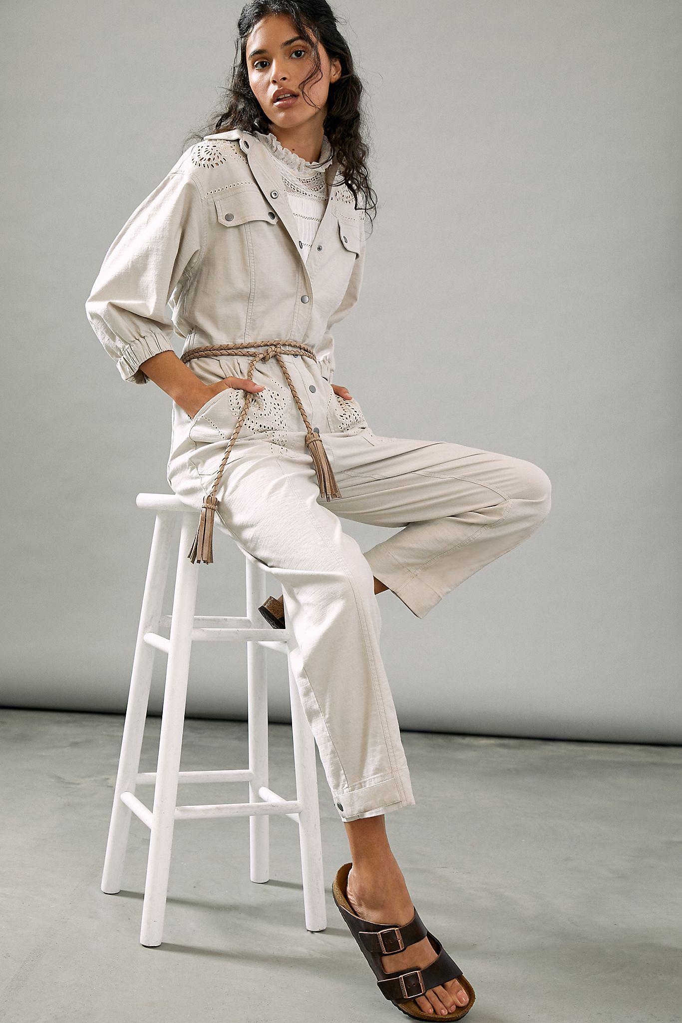 Sydney Embroidered Utility Jumpsuit