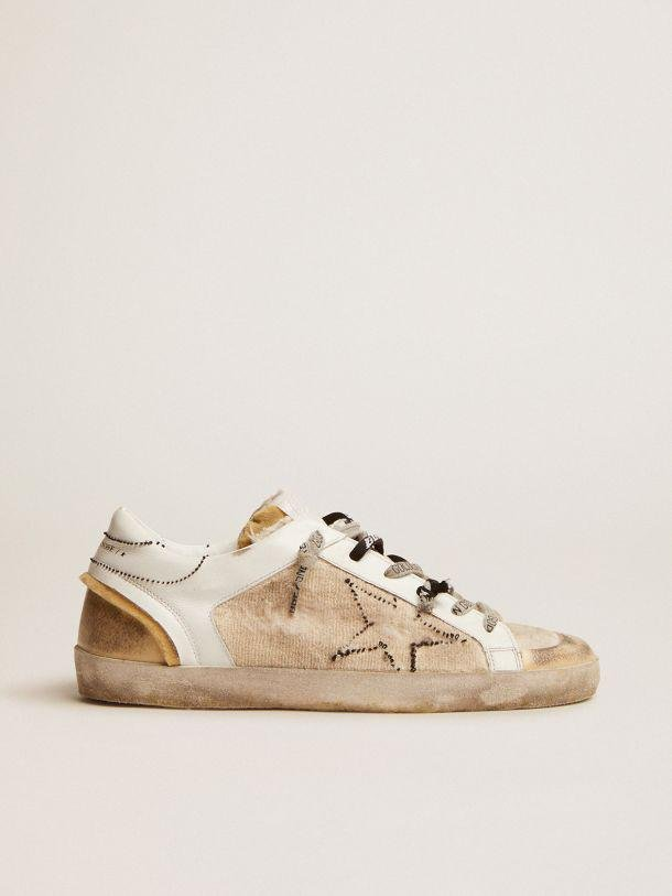 White and beige inside out Super-Star sneakers 0