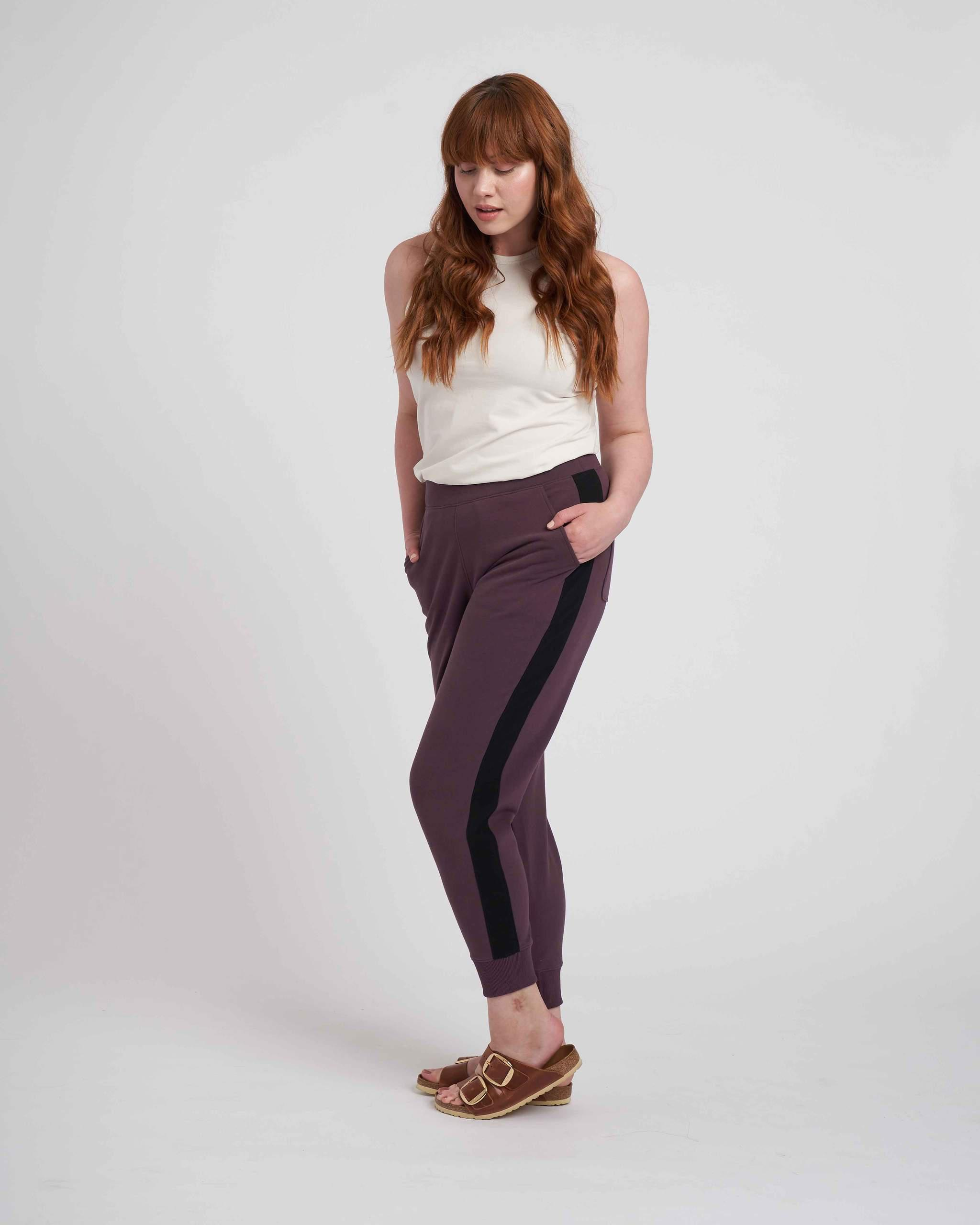 Hollie Brushed Terry Striped Jogger 3