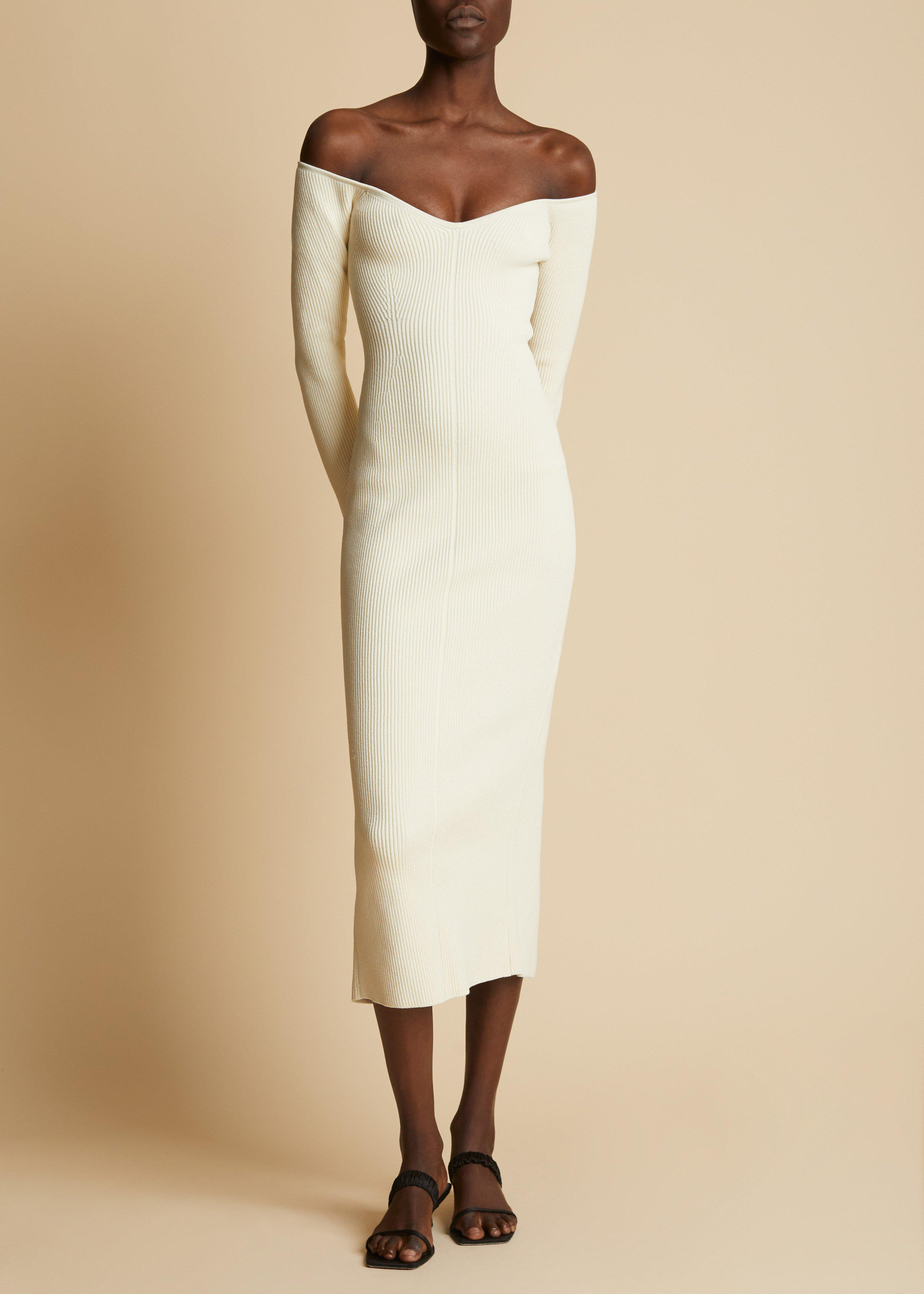 The Pia Dress in Ivory