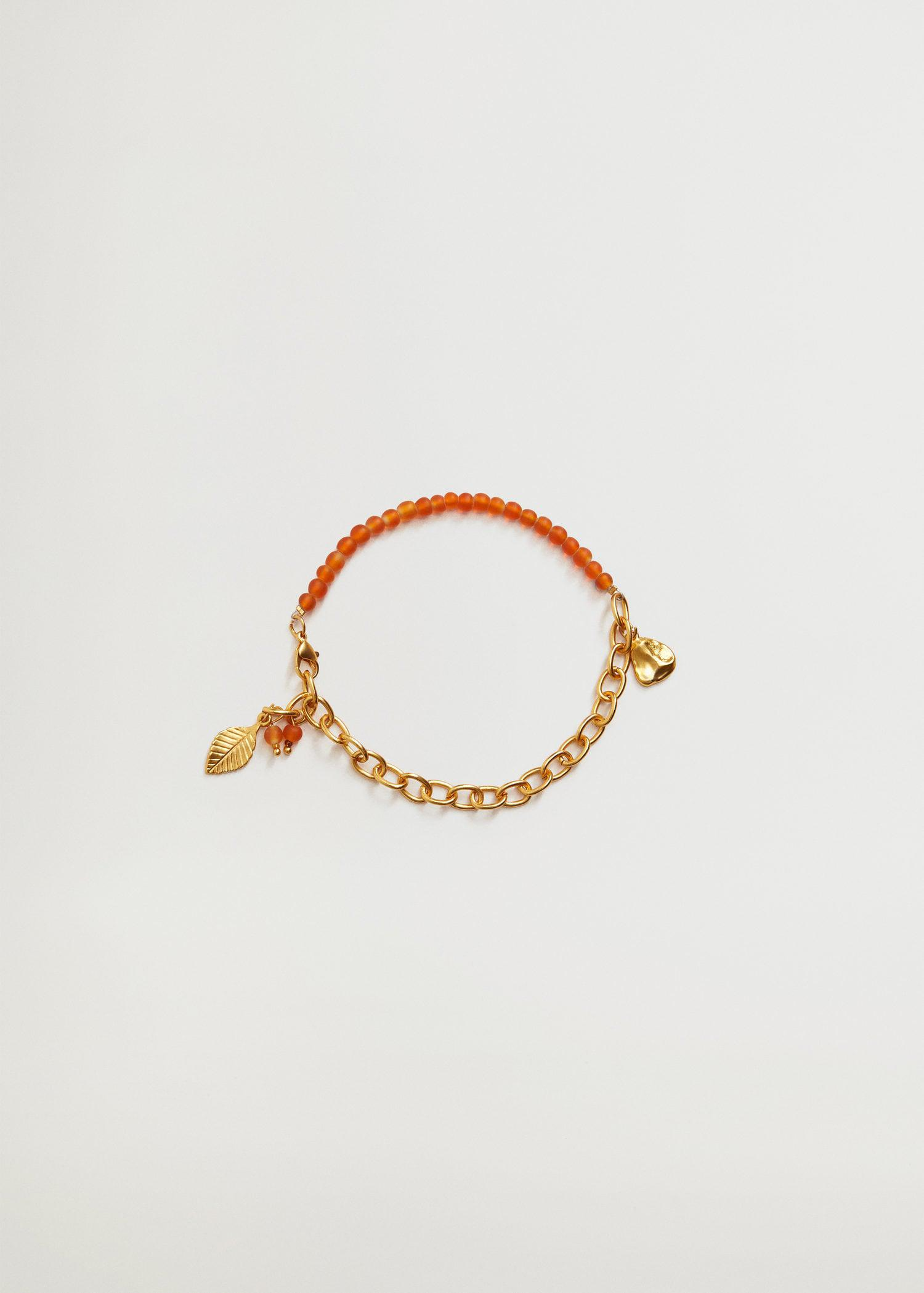 Mixed bead anklet