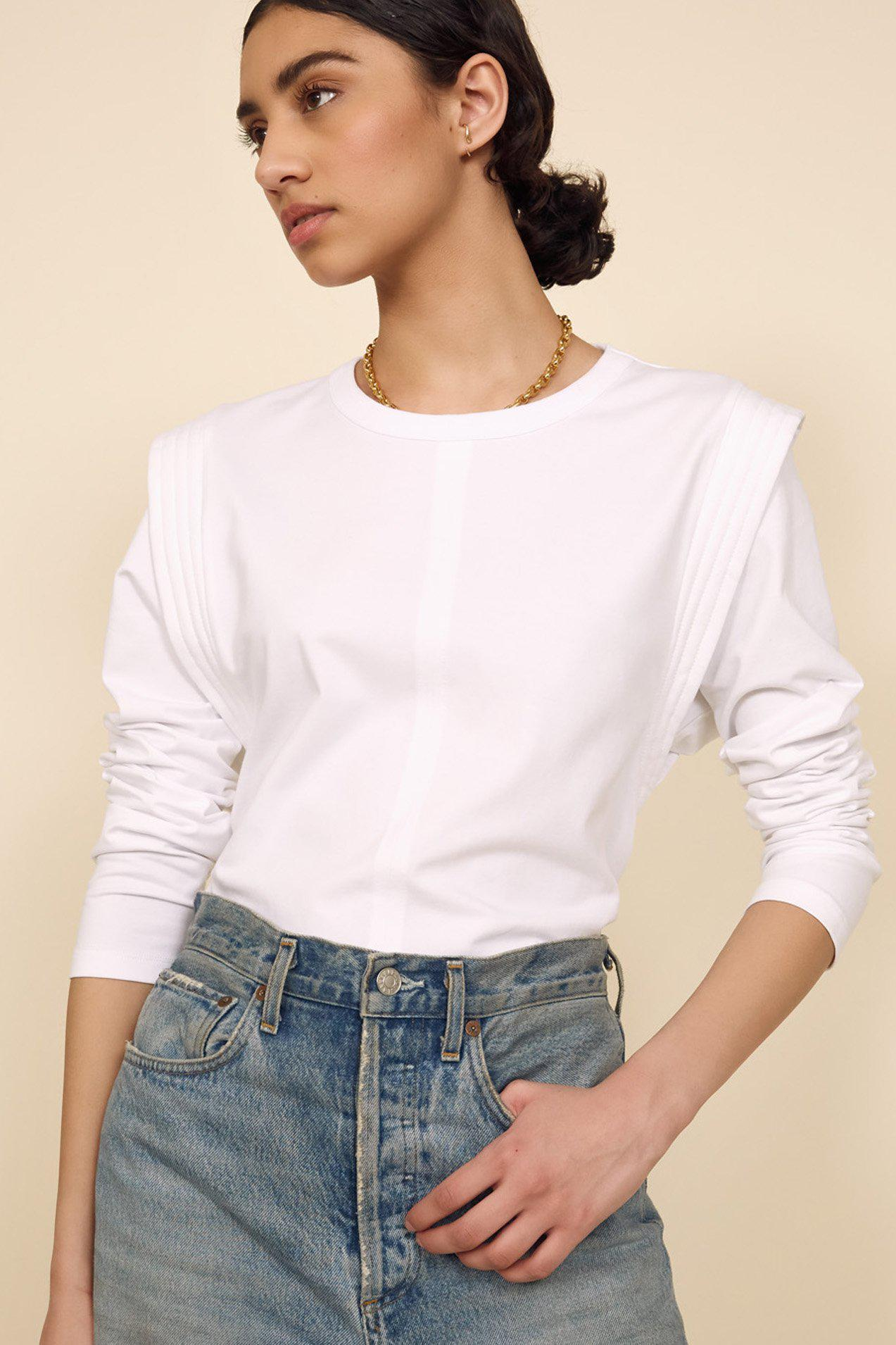 The Long Sleeve Gimme That Shoulder Tee