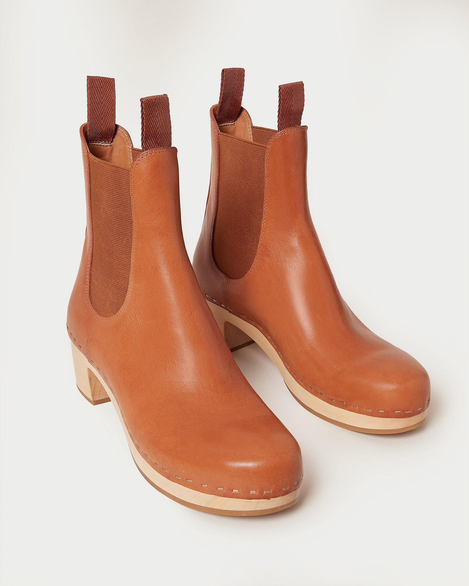Anabelle Cognac Clog Boot 2