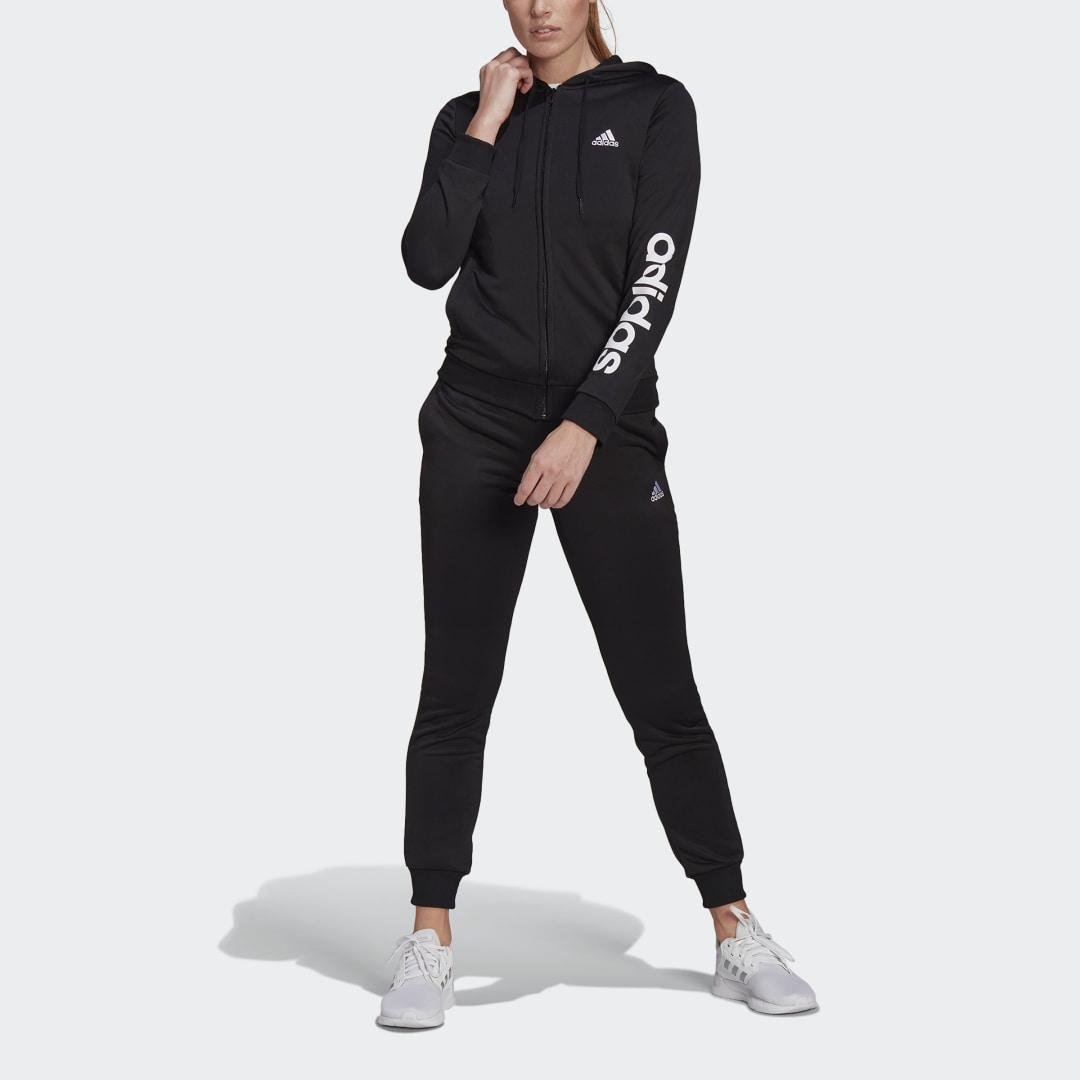 Essentials Logo French Terry Track Suit Black 3
