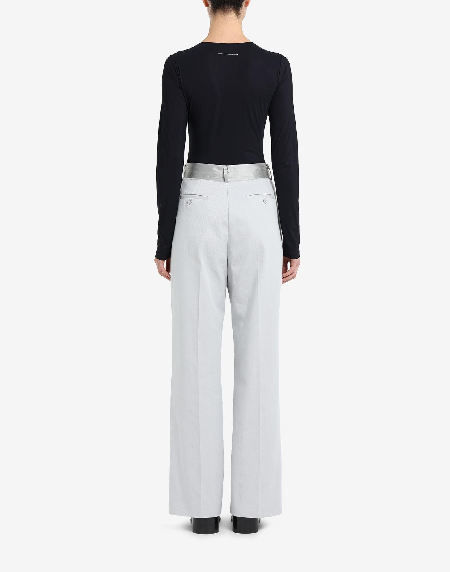 Spliced cotton trousers 2